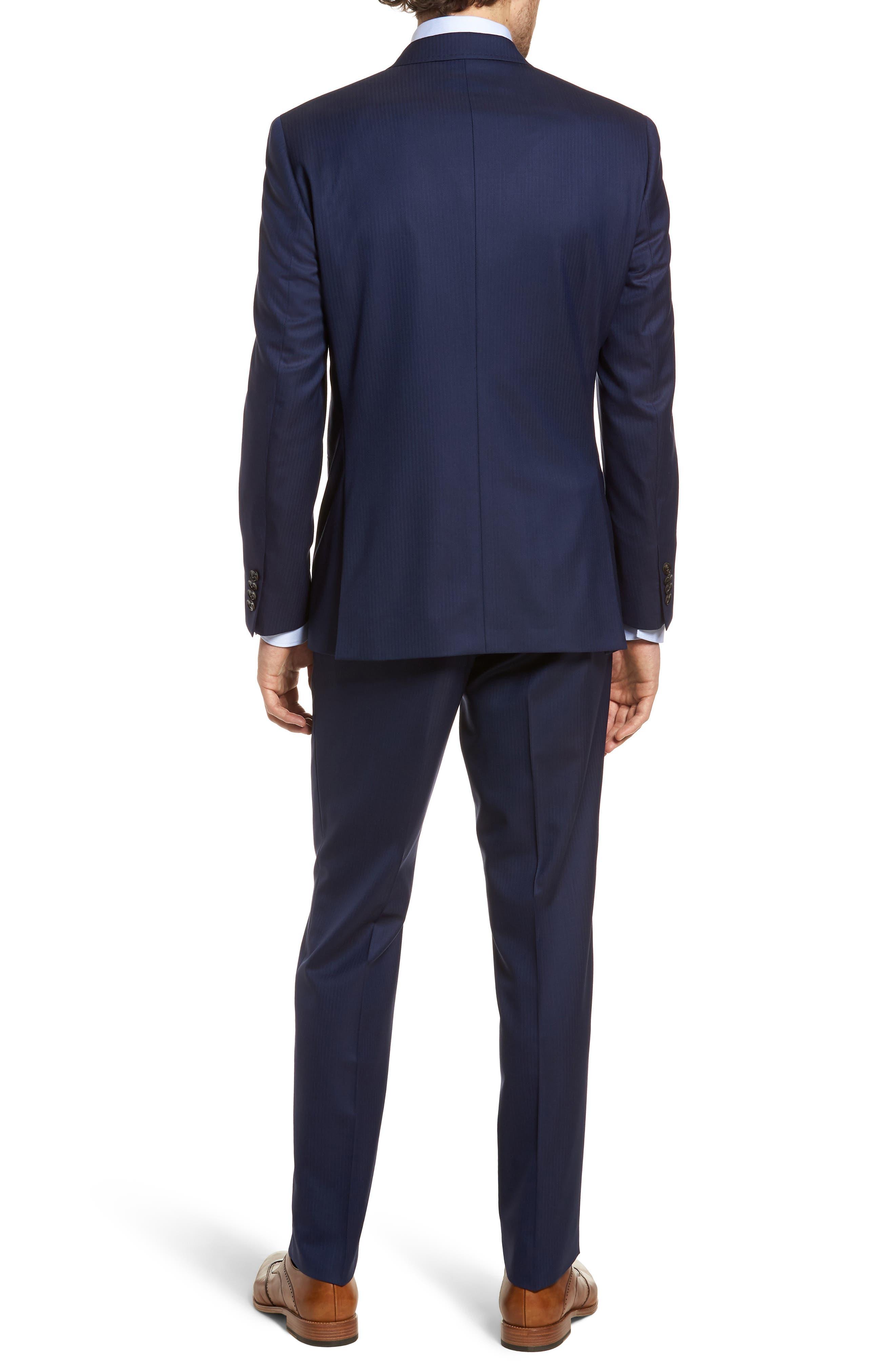 Jay Trim Fit Stripe Wool Suit,                             Alternate thumbnail 2, color,                             410