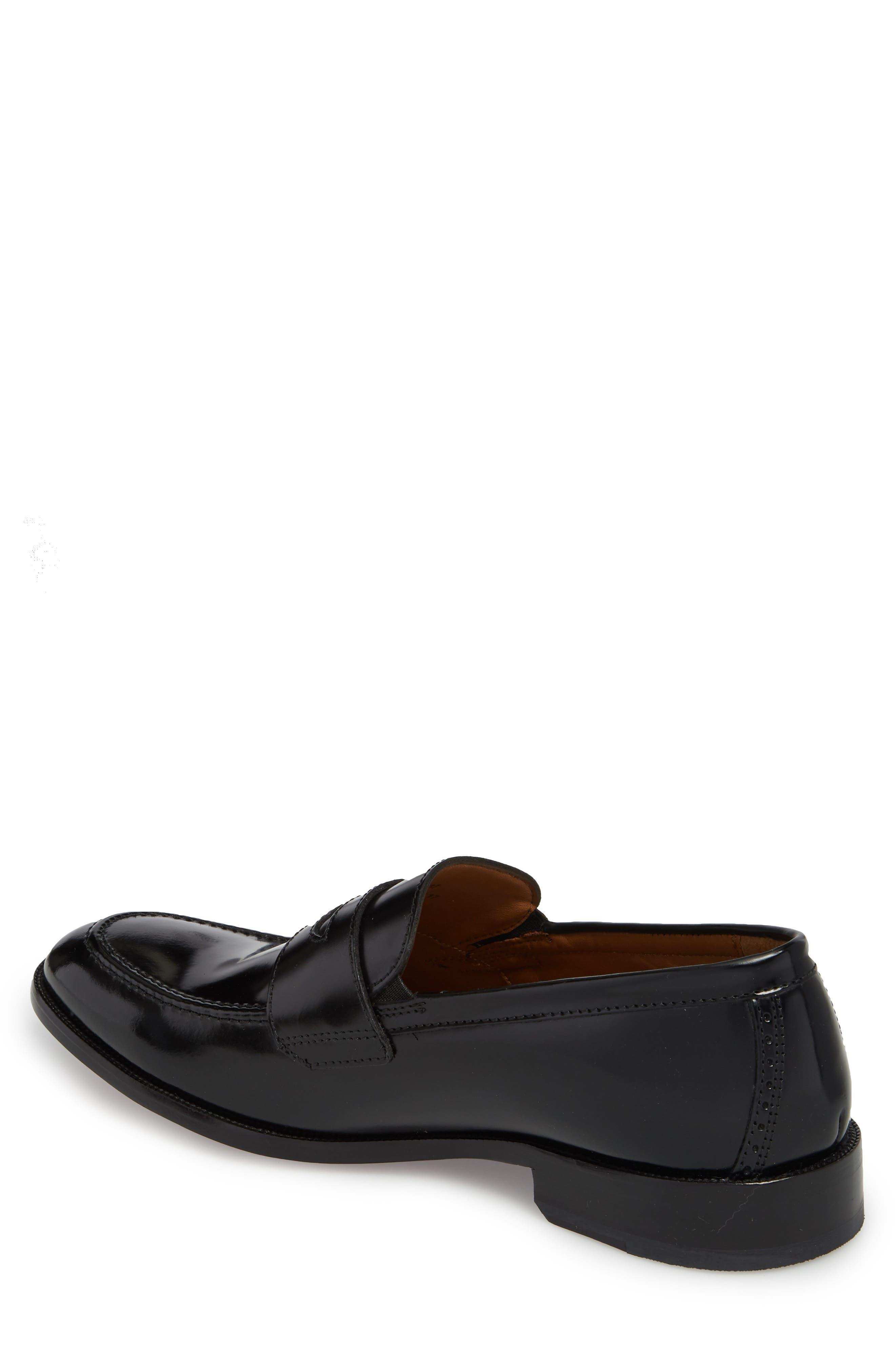 Bradford Penny Loafer,                             Alternate thumbnail 2, color,                             BLACK LEATHER