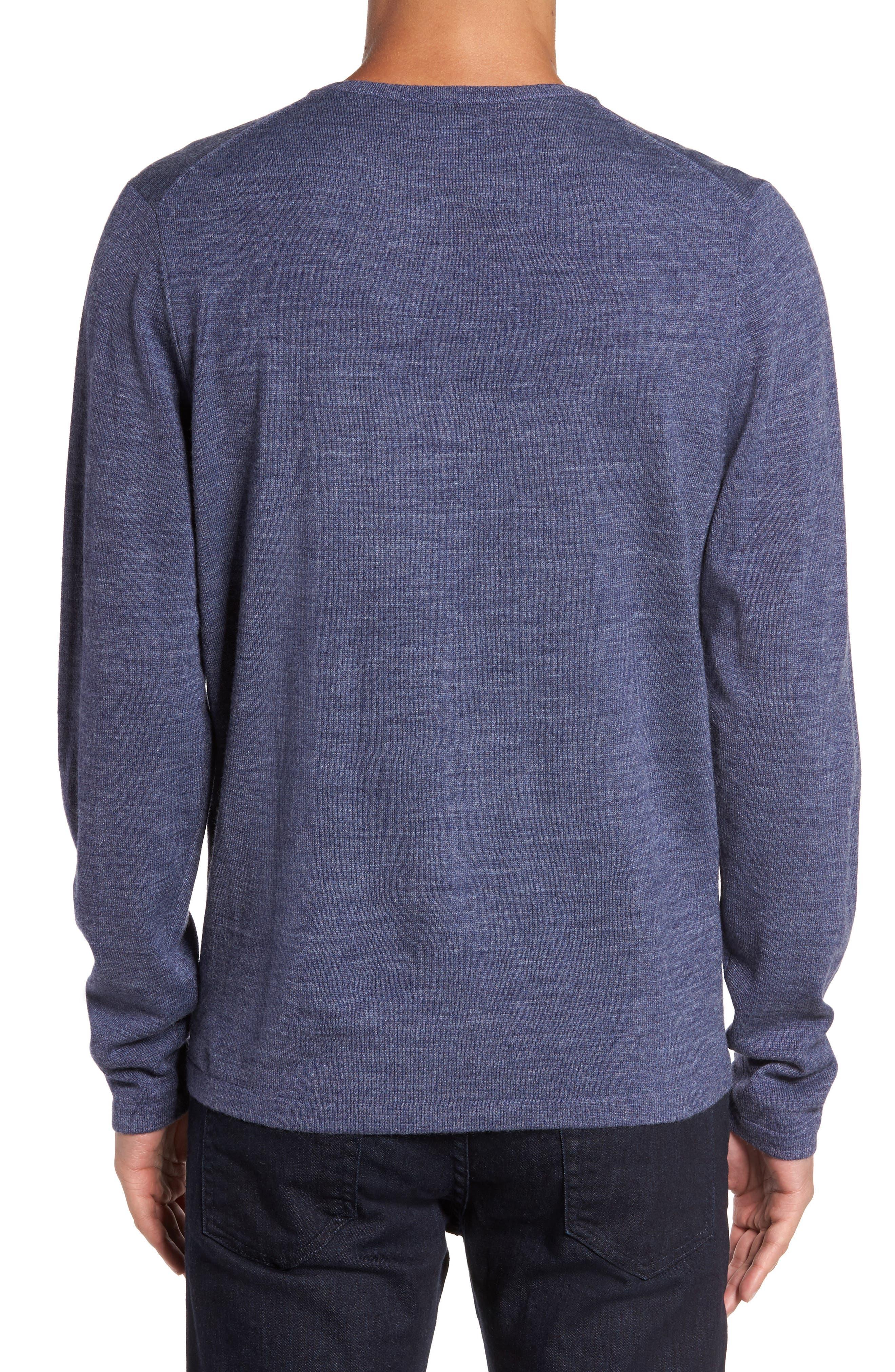 Merino Blend Crewneck Sweater,                             Alternate thumbnail 8, color,