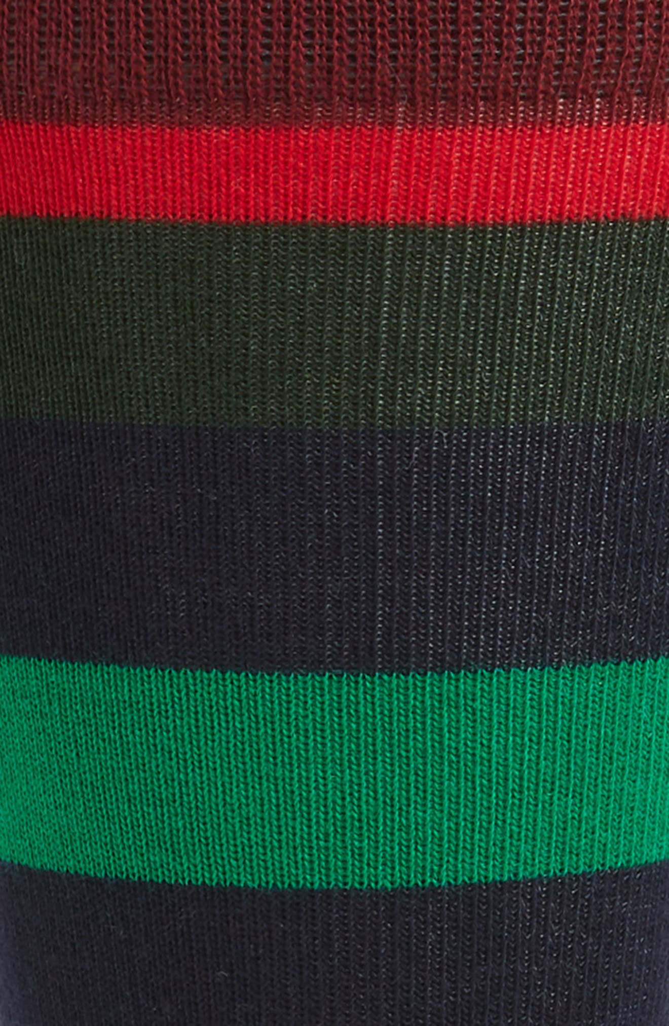 Holiday Stripe Socks,                             Alternate thumbnail 2, color,                             BLACK