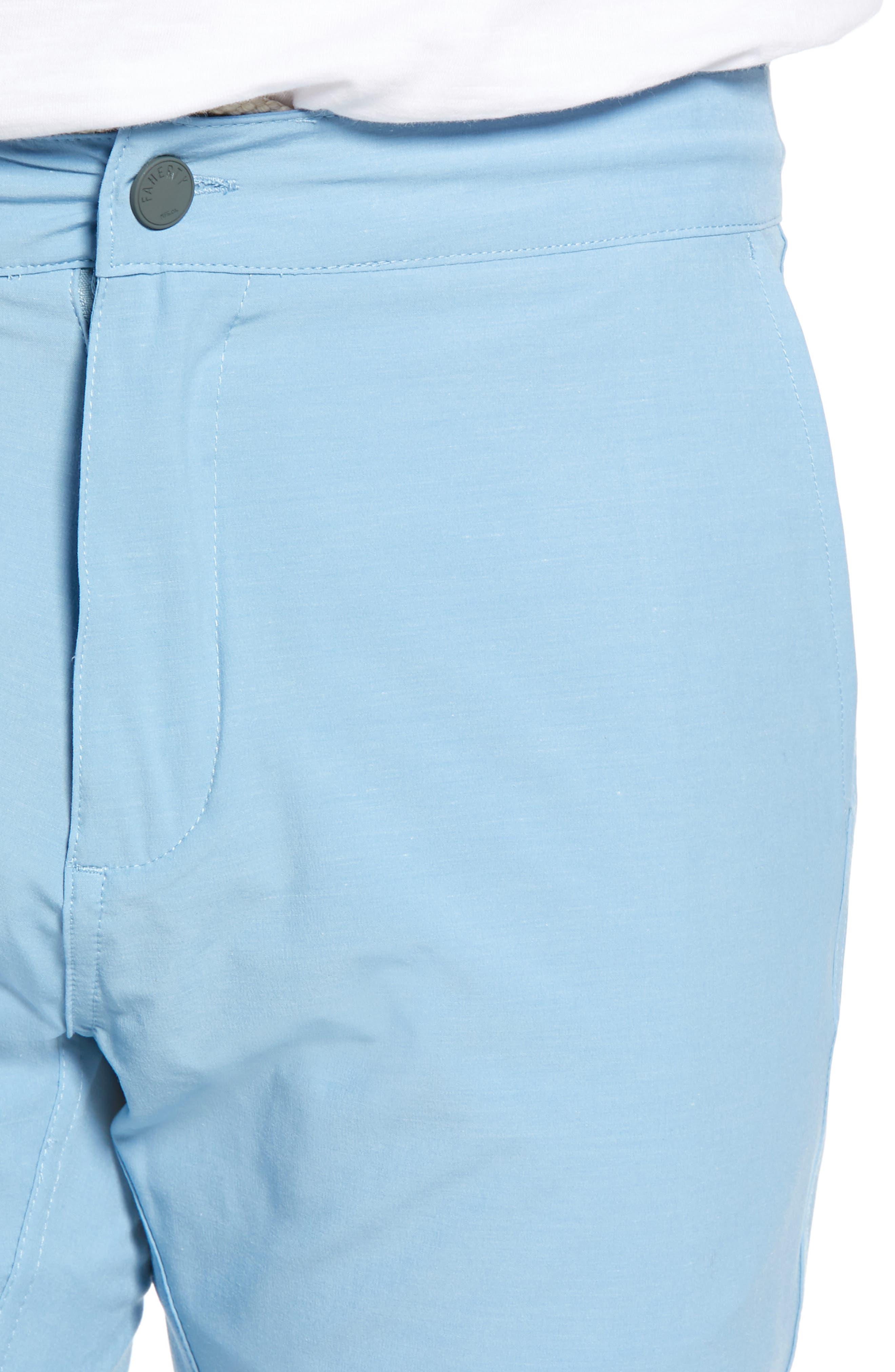 All Day Flat Front Shorts,                             Alternate thumbnail 4, color,                             COASTAL BLUE