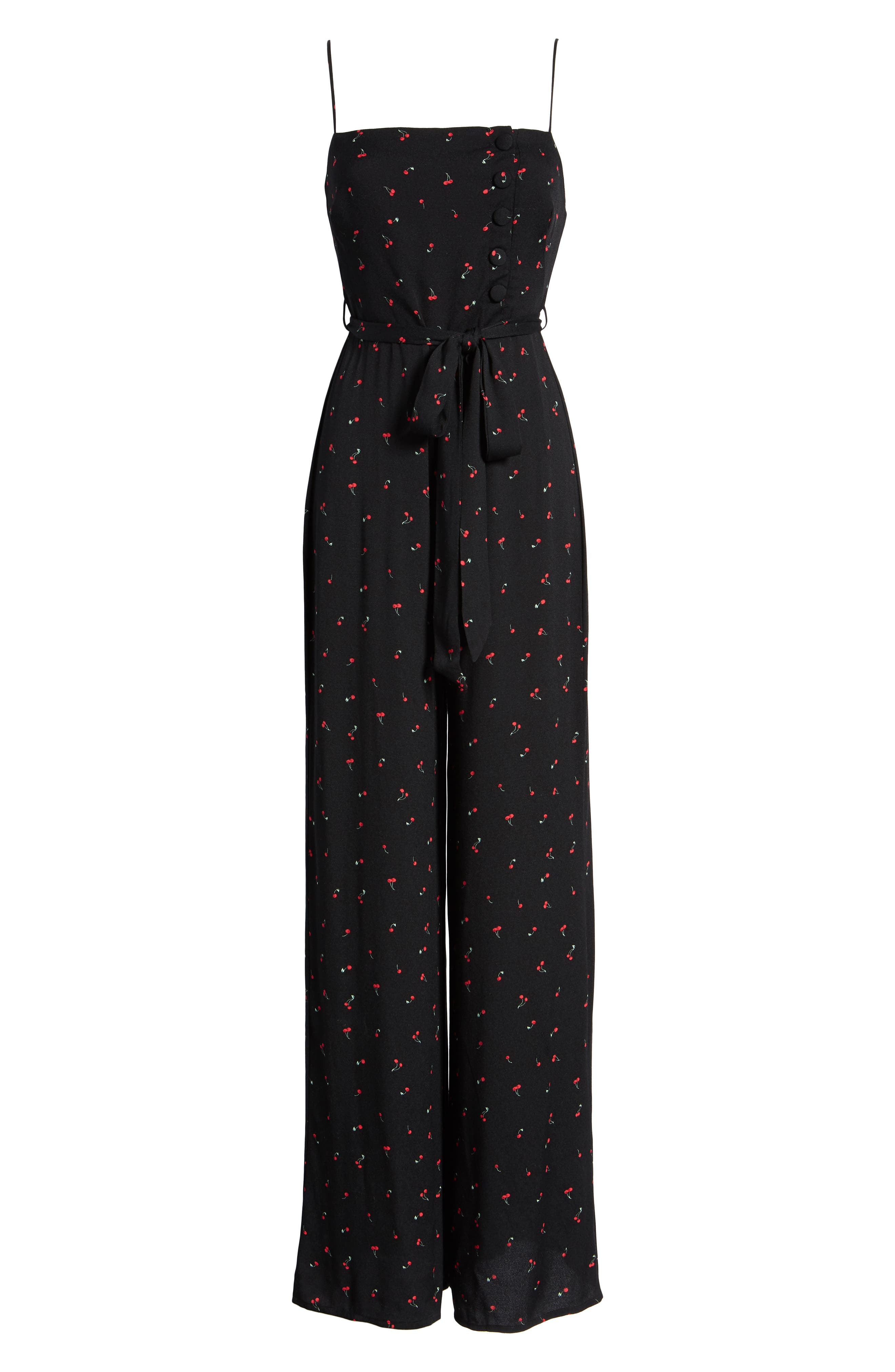 Mel Belted Jumpsuit,                             Alternate thumbnail 7, color,                             BABY CHERRY