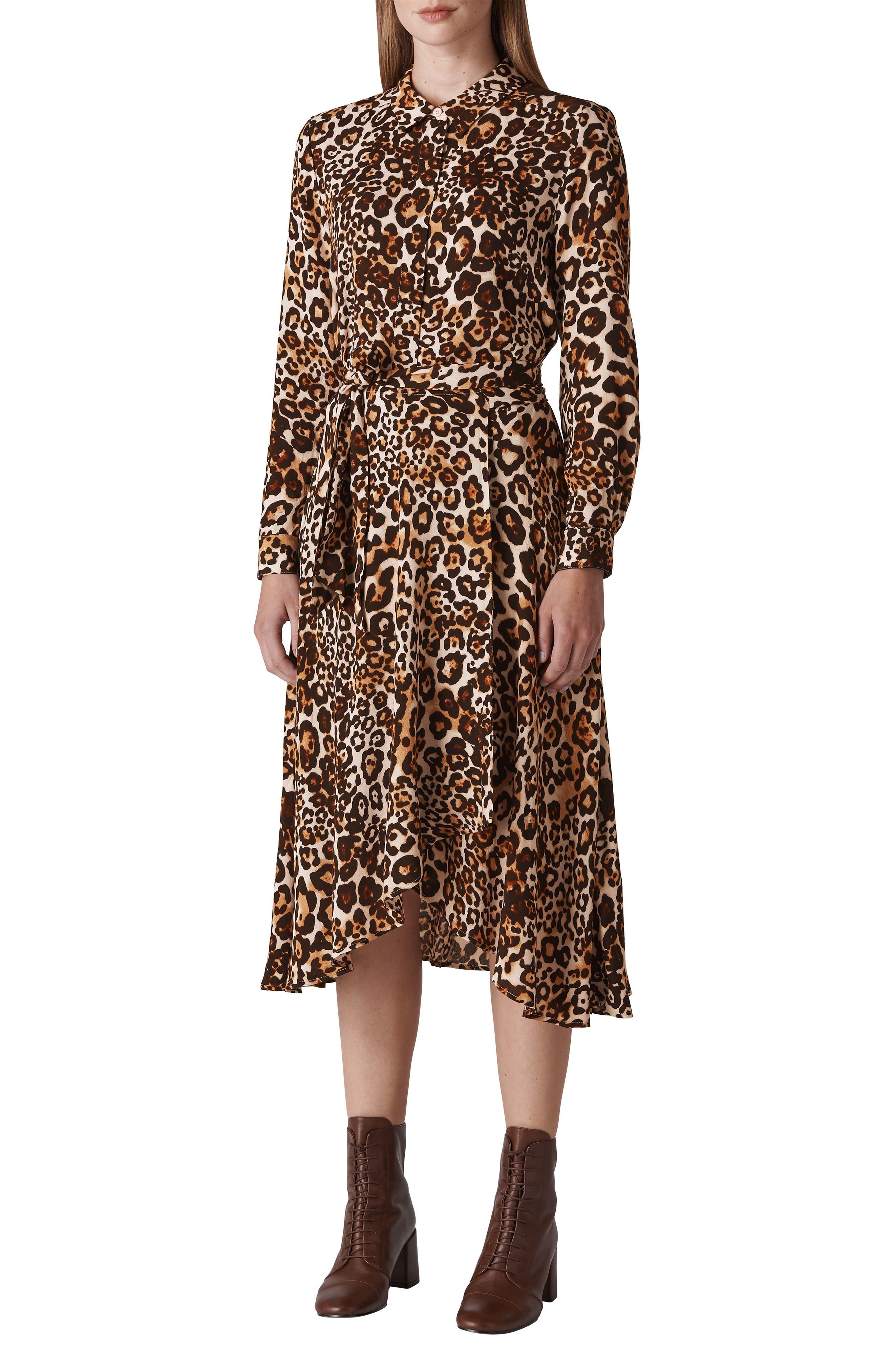 Esme Shirtdress,                         Main,                         color, LEOPARD PRINT