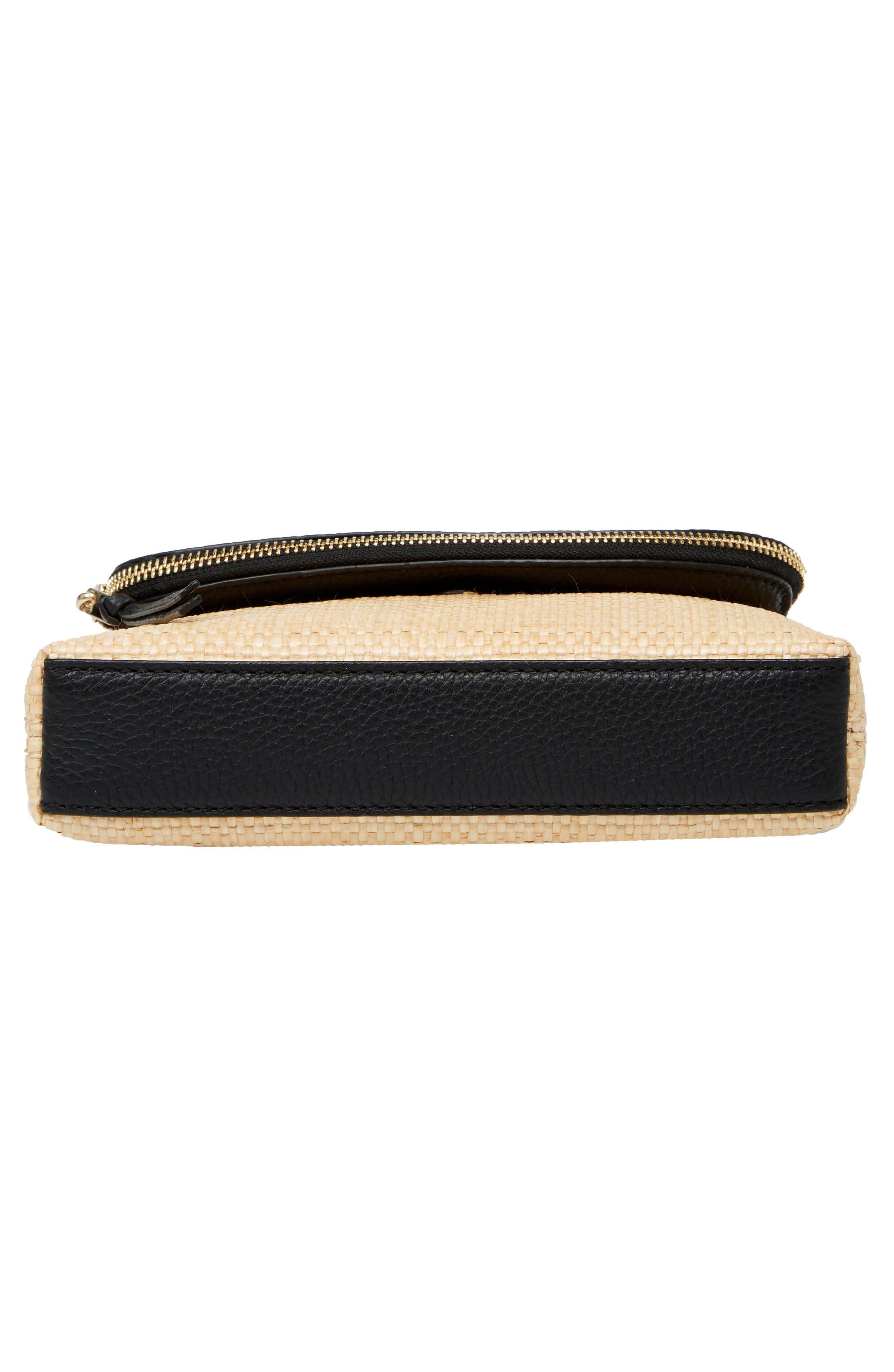 jackson street – harlyn straw & leather crossbody bag,                             Alternate thumbnail 6, color,