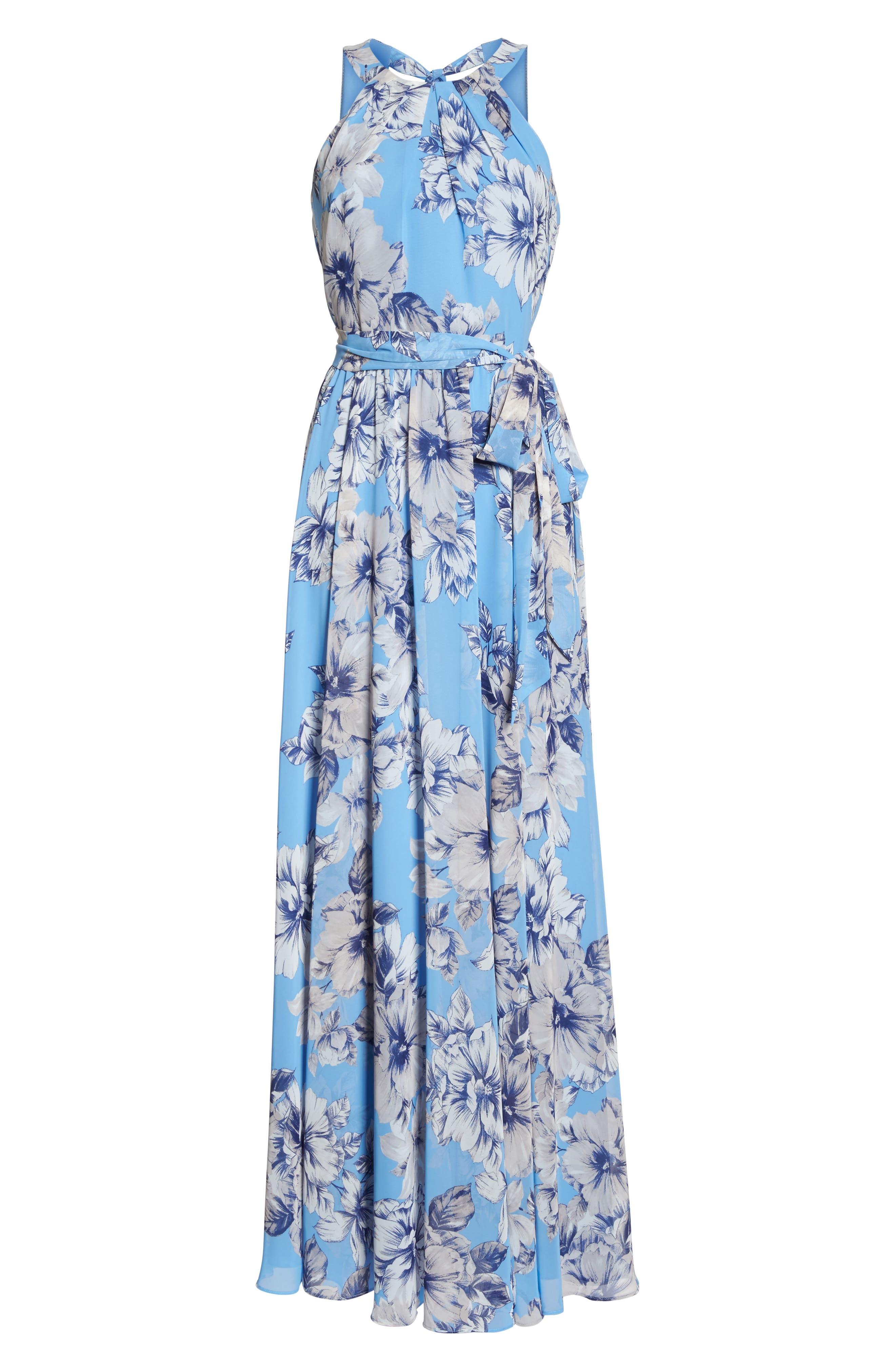 Halter Maxi Dress,                             Alternate thumbnail 6, color,                             421