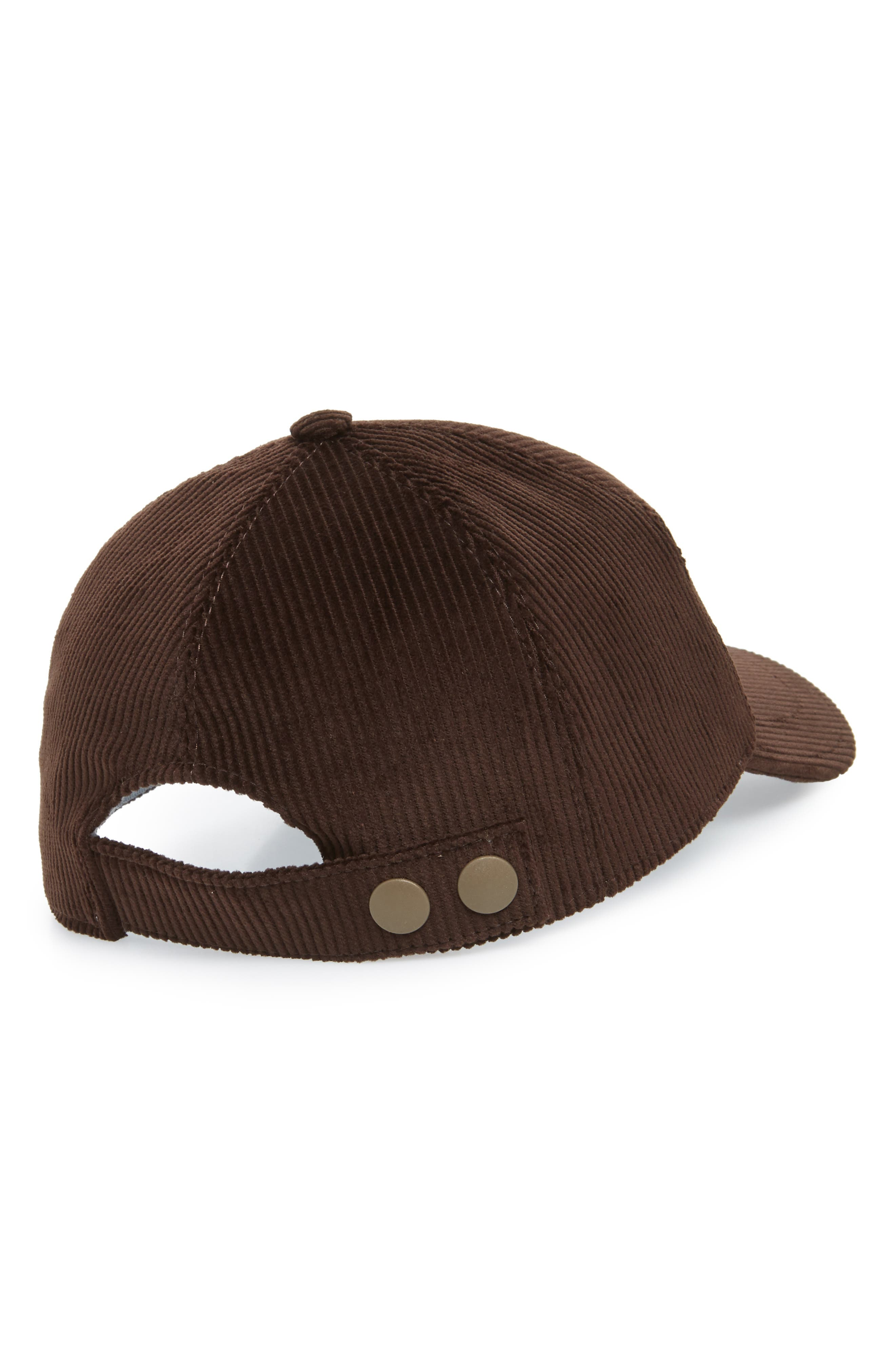 Corduroy Ball Cap,                             Alternate thumbnail 2, color,                             CHOCOLATE