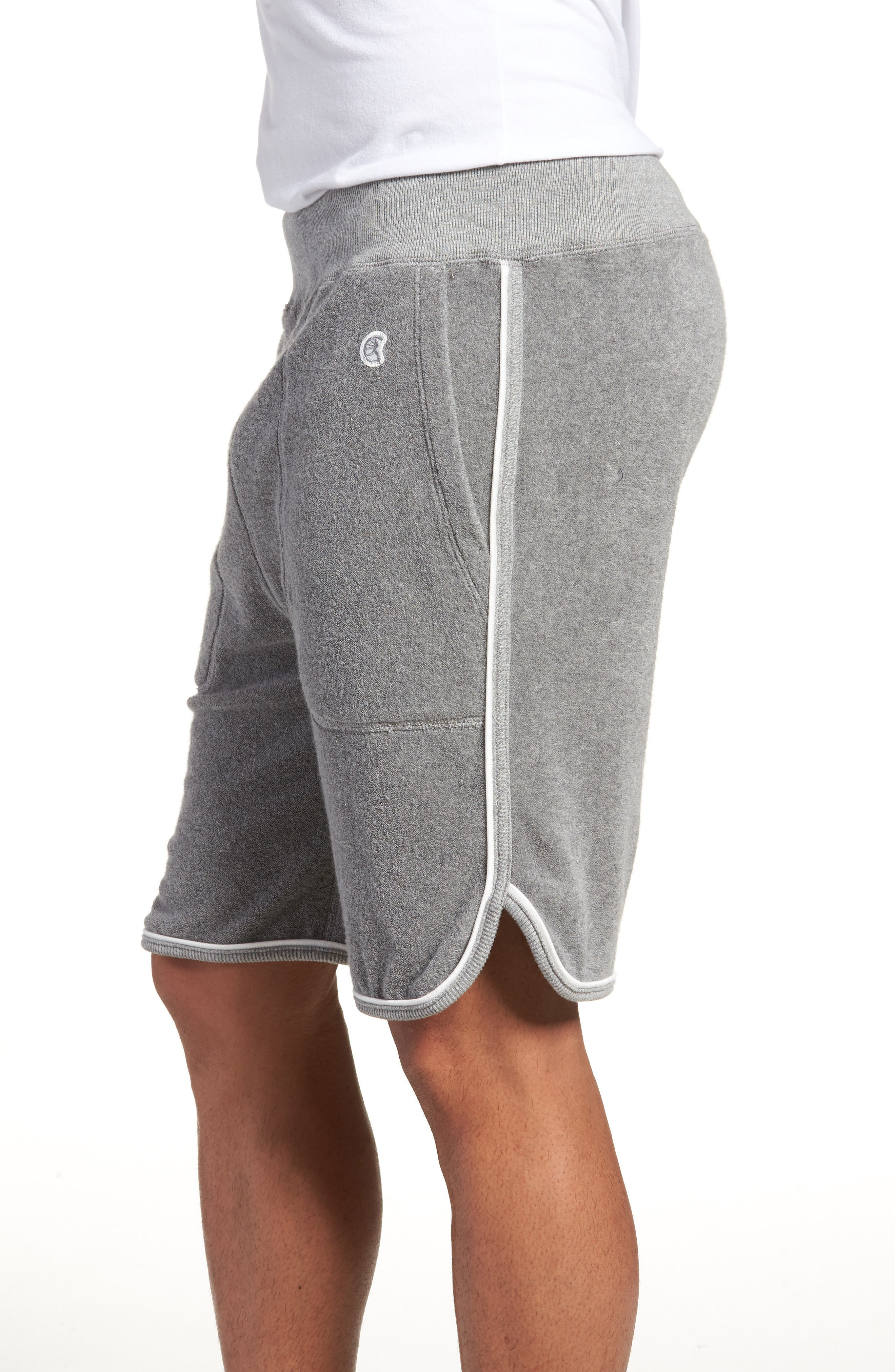 x Champion Piped Terry Shorts,                             Alternate thumbnail 4, color,                             GREY