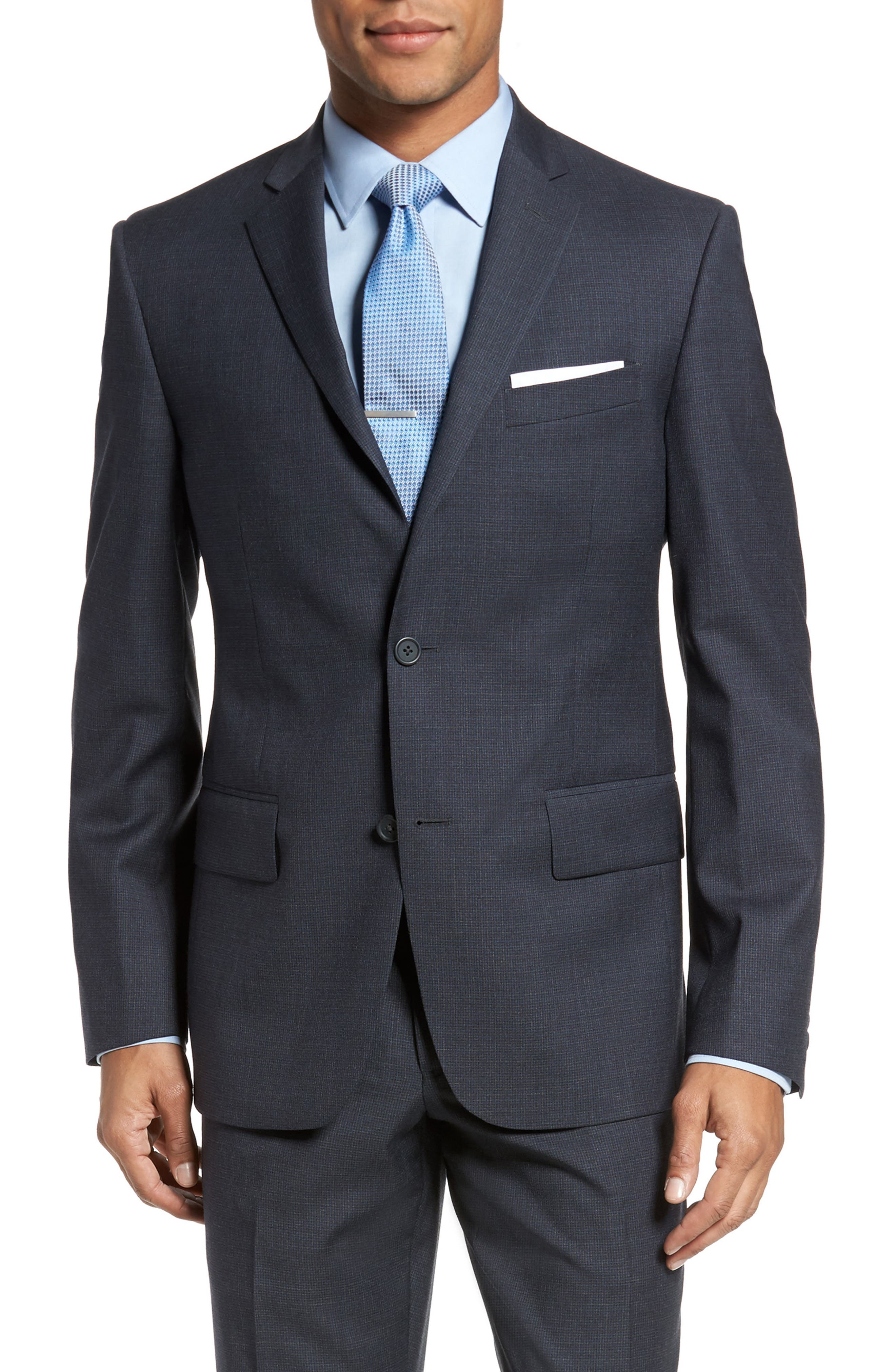Classic Fit Check Wool Suit,                             Alternate thumbnail 15, color,