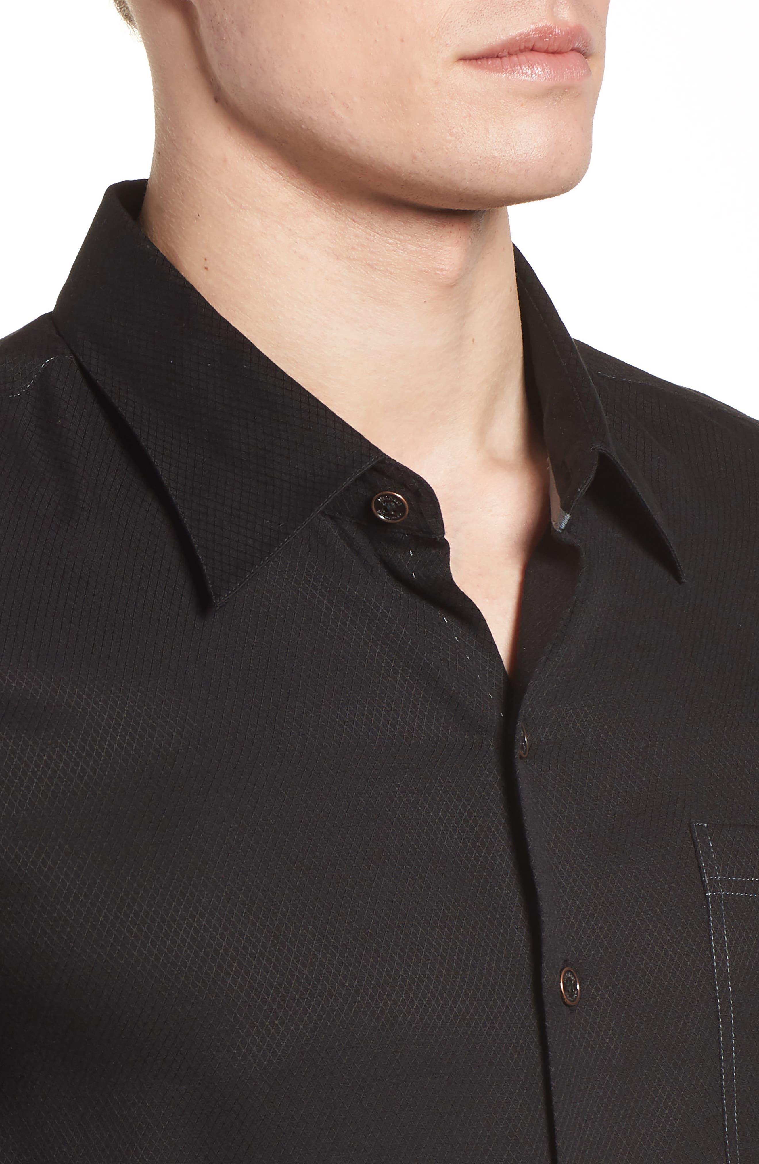 'Honeycomb' Regular Fit Short Sleeve Textured Sport Shirt,                             Alternate thumbnail 10, color,