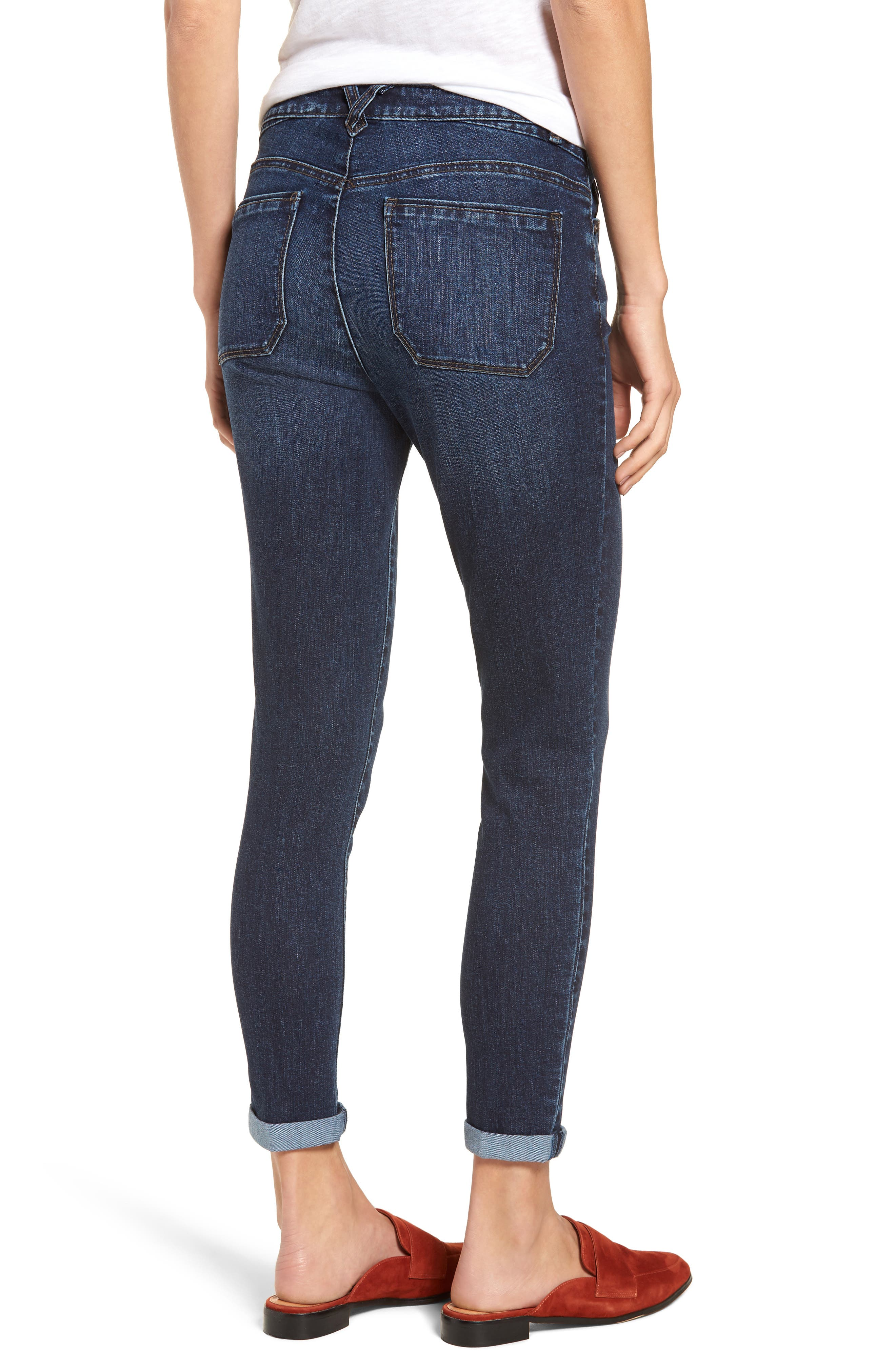 High Waist Button Fly Skinny Ankle Jeans,                             Alternate thumbnail 2, color,                             420