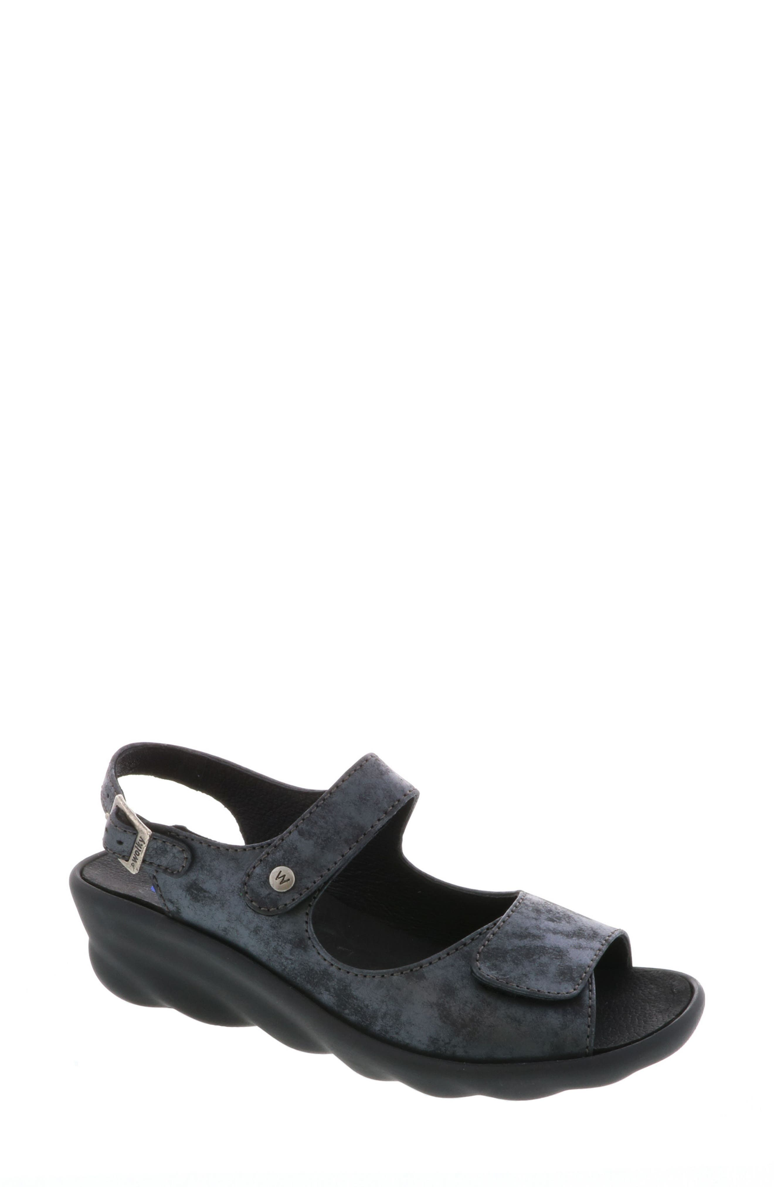 Scala Sandal,                         Main,                         color, BLACK NUBUCK