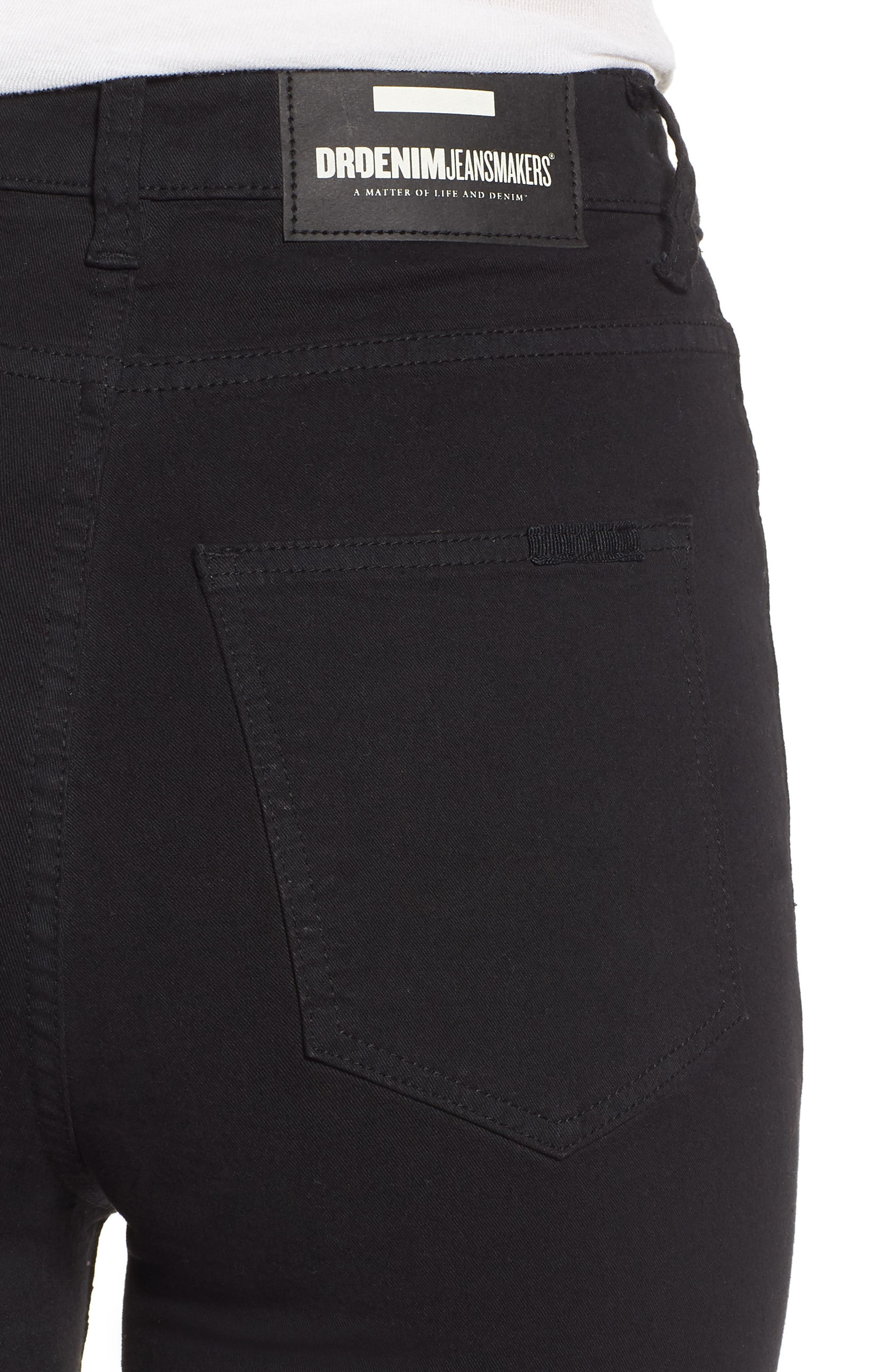 Cropa Cabana Skyhigh Crop Skinny Jeans,                             Alternate thumbnail 4, color,                             001