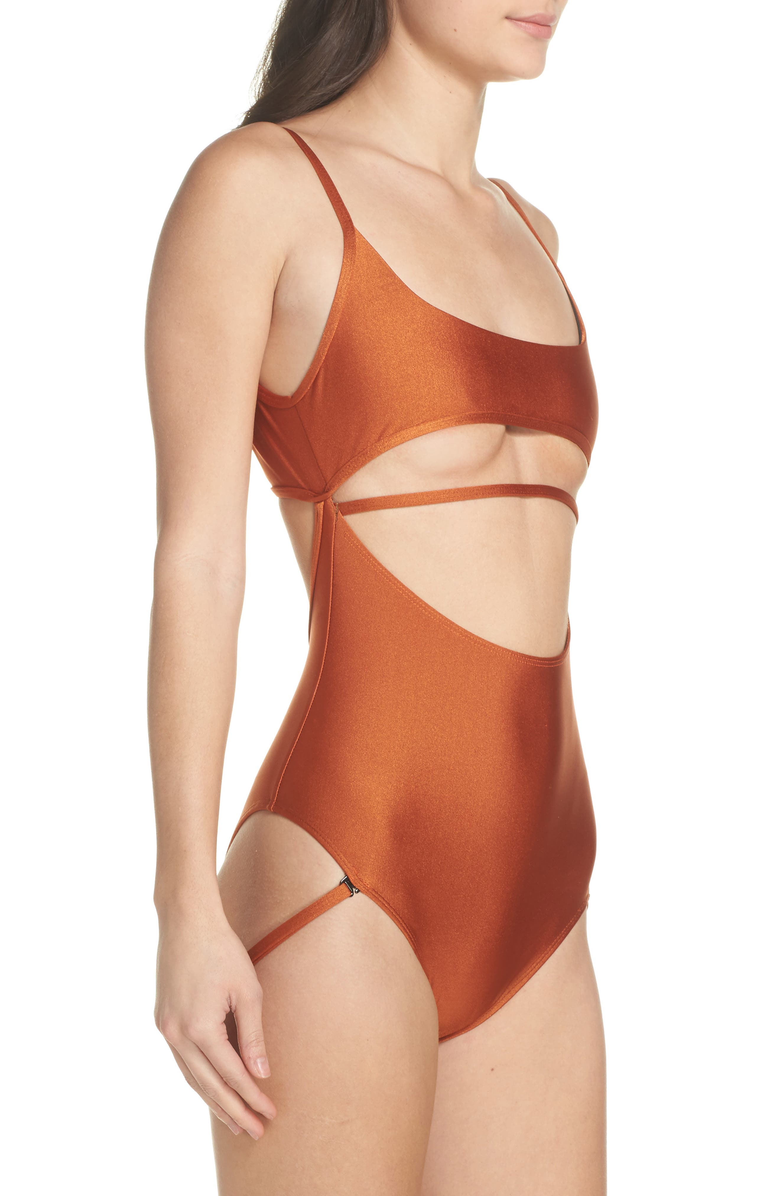 Strata One-Piece Swimsuit,                             Alternate thumbnail 4, color,                             800