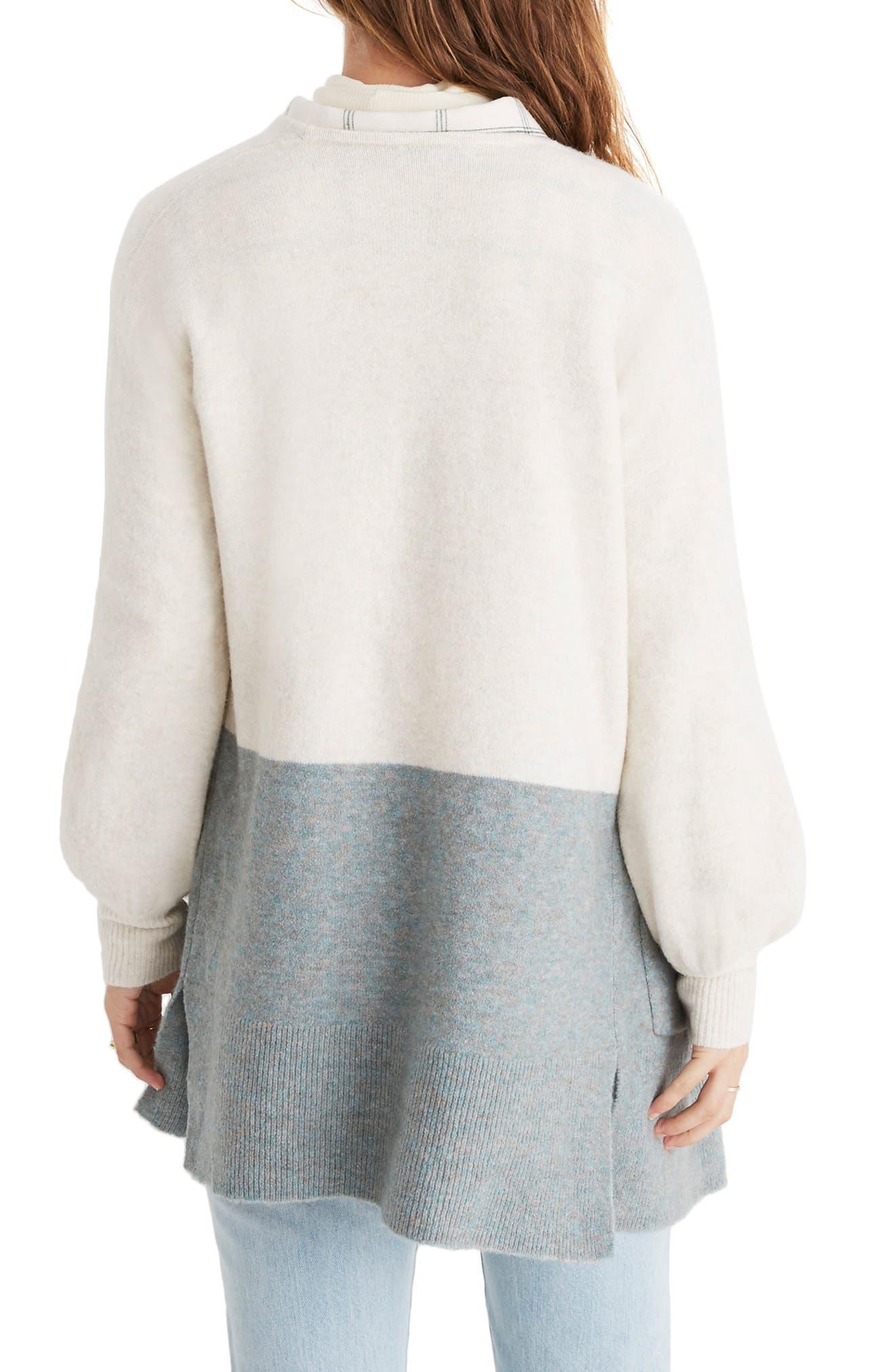 Kent Colorblock Cardigan Sweater,                             Alternate thumbnail 2, color,                             HEATHER RIVER