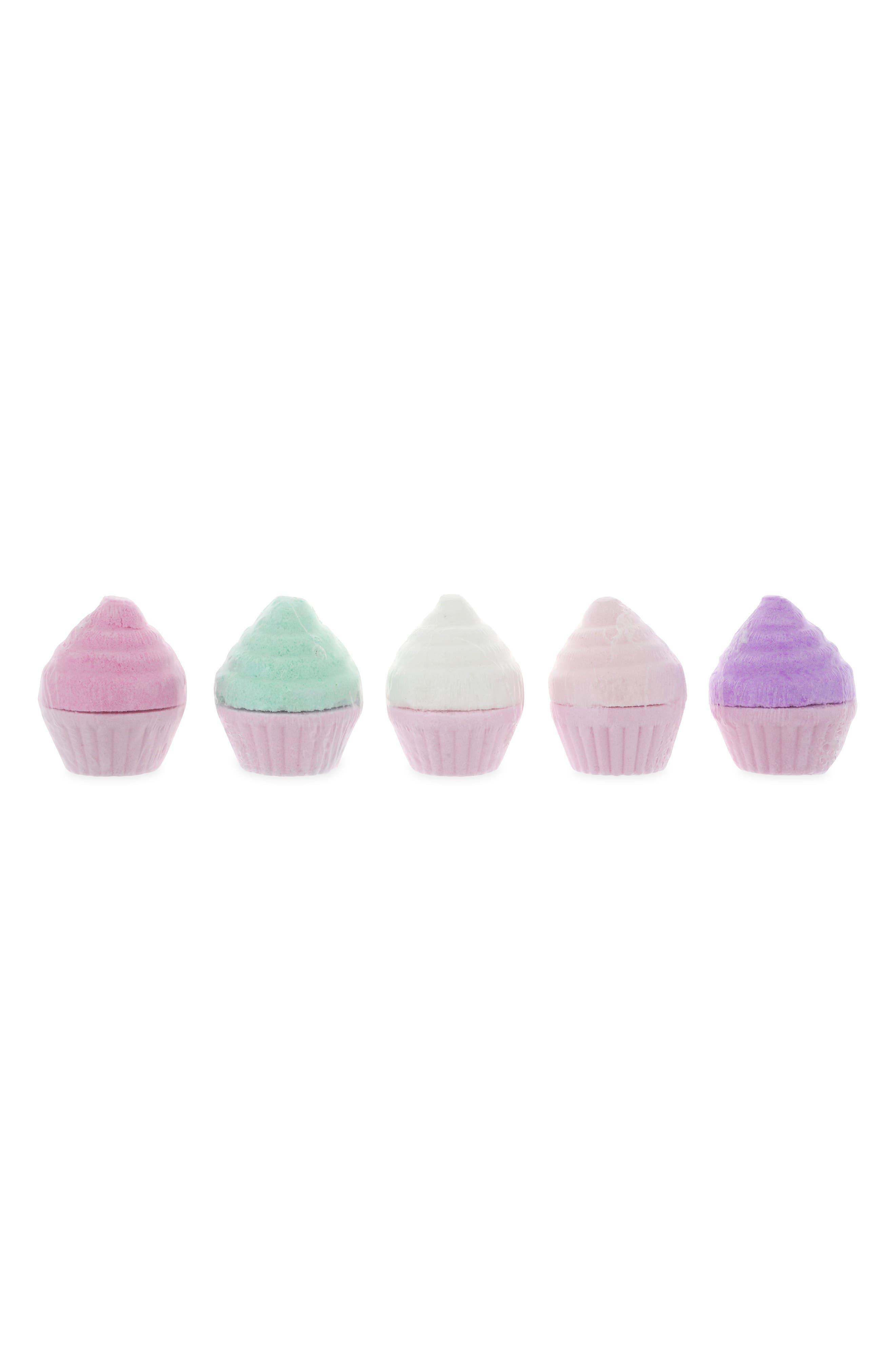 5-Piece Cupcake Bath Fizzies Set,                             Alternate thumbnail 2, color,                             650