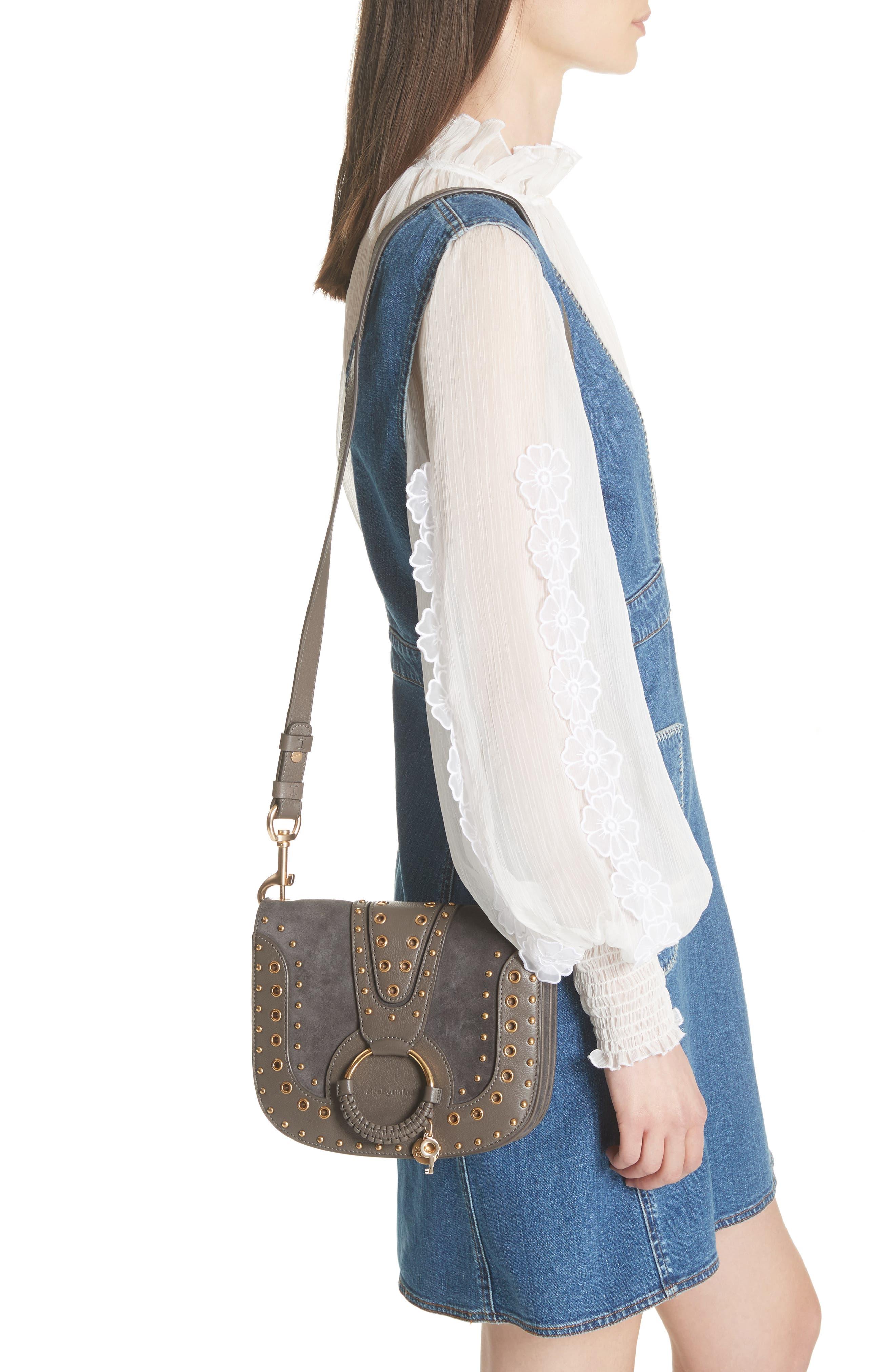 Small Hana Studded Leather Crossbody Bag,                             Alternate thumbnail 2, color,                             201