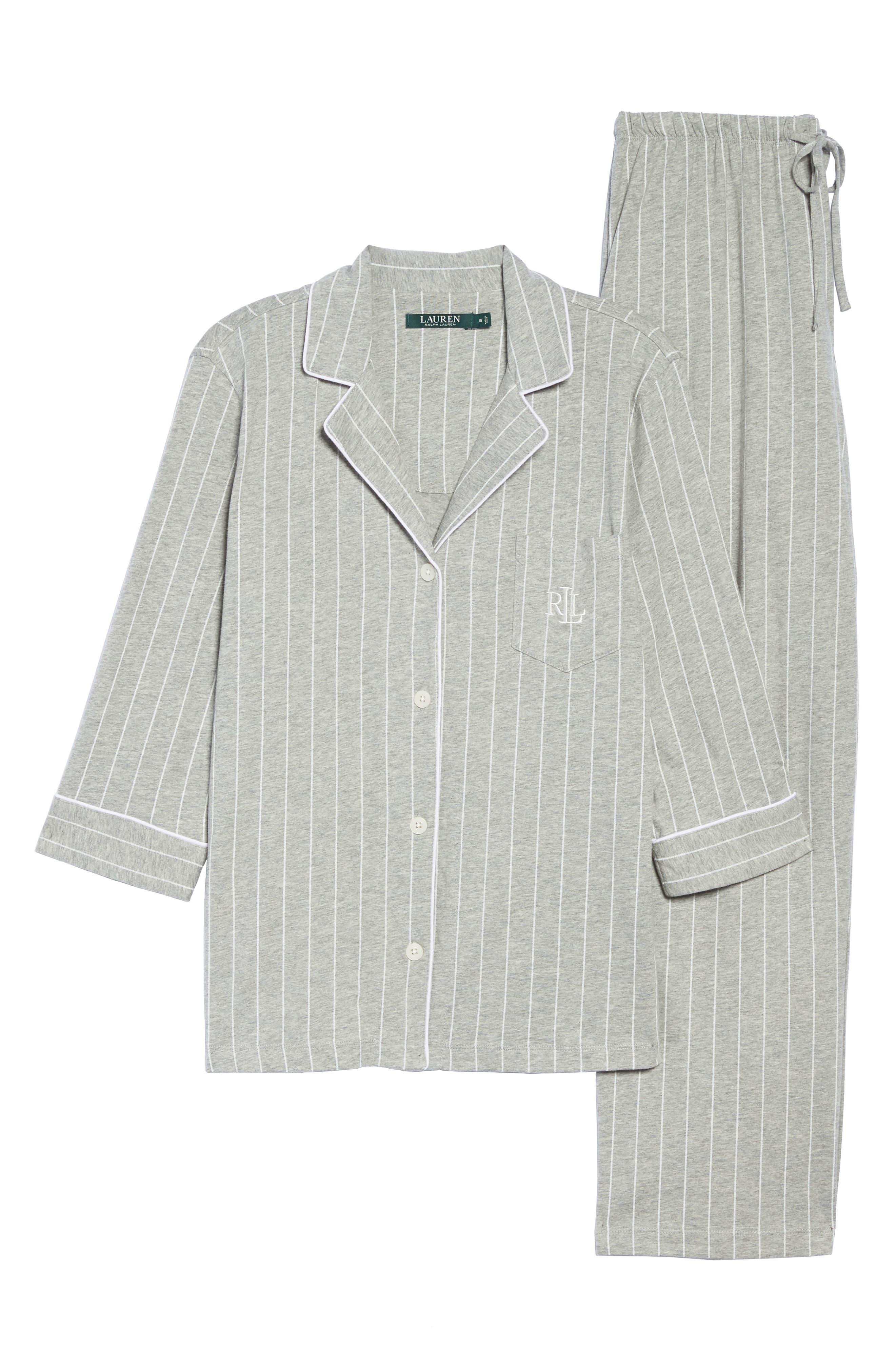 Notch Collar Pajamas,                             Alternate thumbnail 11, color,