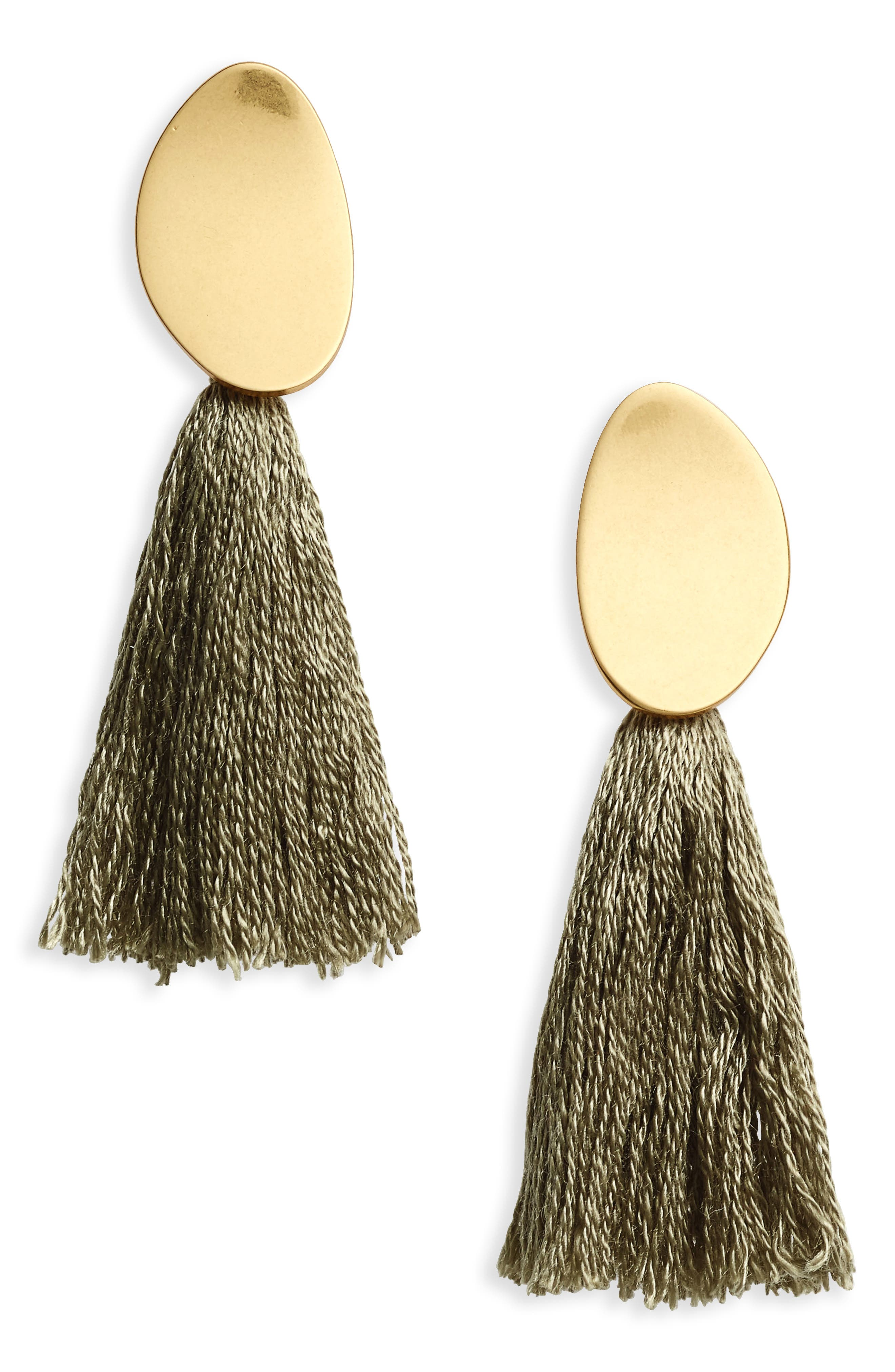 Curved Tassel Earrings,                             Main thumbnail 3, color,