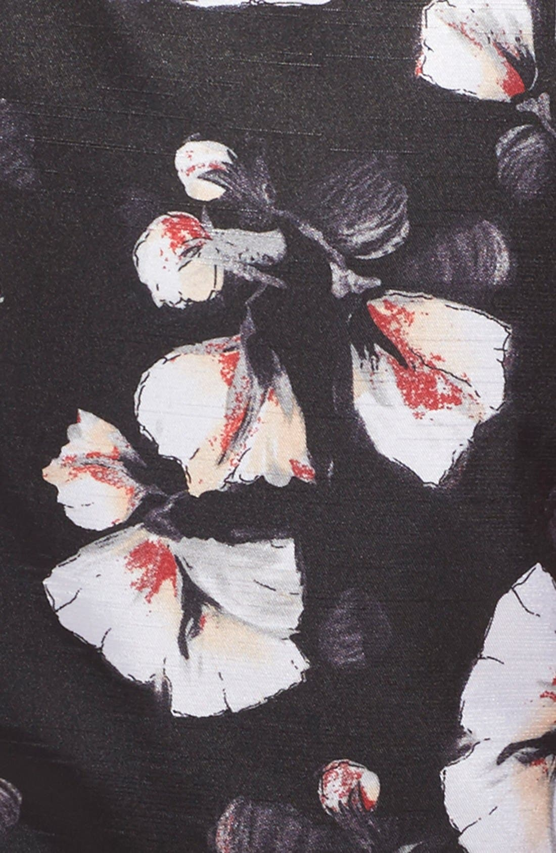 'Alexis' Flower Print Fit & Flare Dress,                             Alternate thumbnail 2, color,                             001