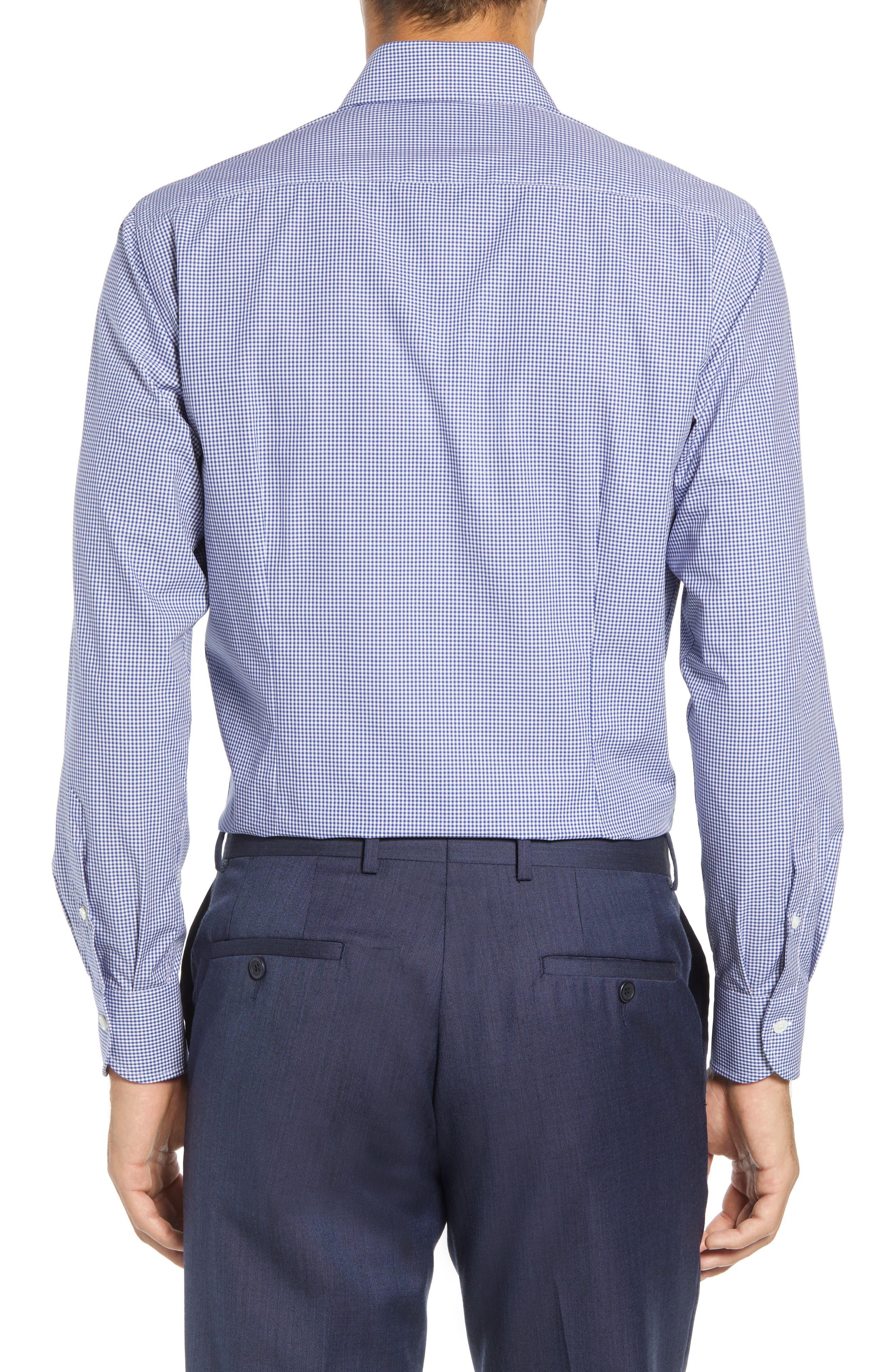 Classic Fit Gingham Dress Shirt,                             Alternate thumbnail 3, color,                             420