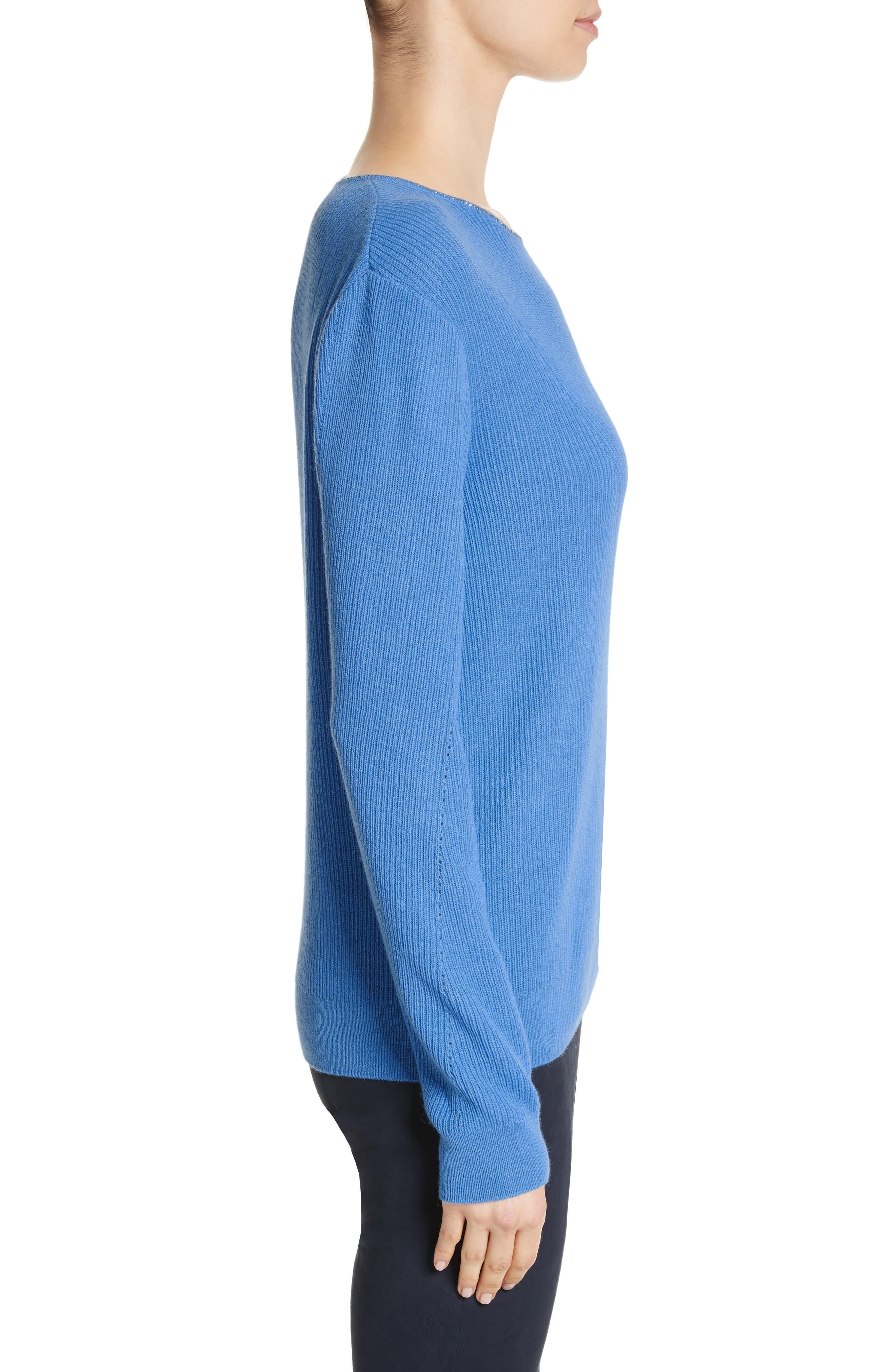 Cashmere Sweater,                             Alternate thumbnail 3, color,                             420
