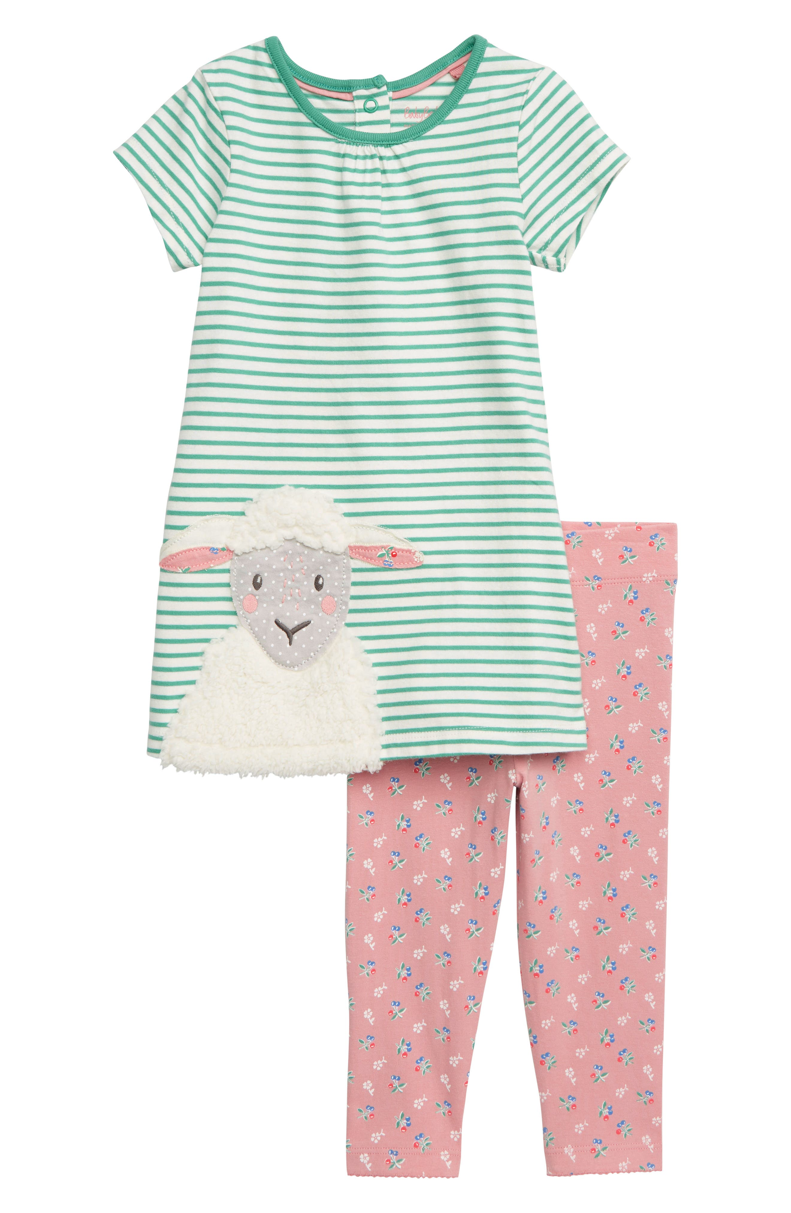 Toddler Girls Mini Boden Farmyard Dress  Leggings Set (Baby  Toddler Girls)