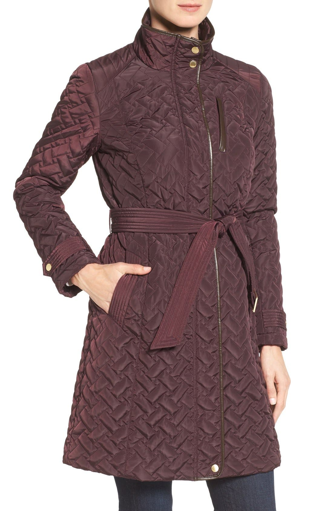 Belted Quilted Coat,                             Alternate thumbnail 25, color,