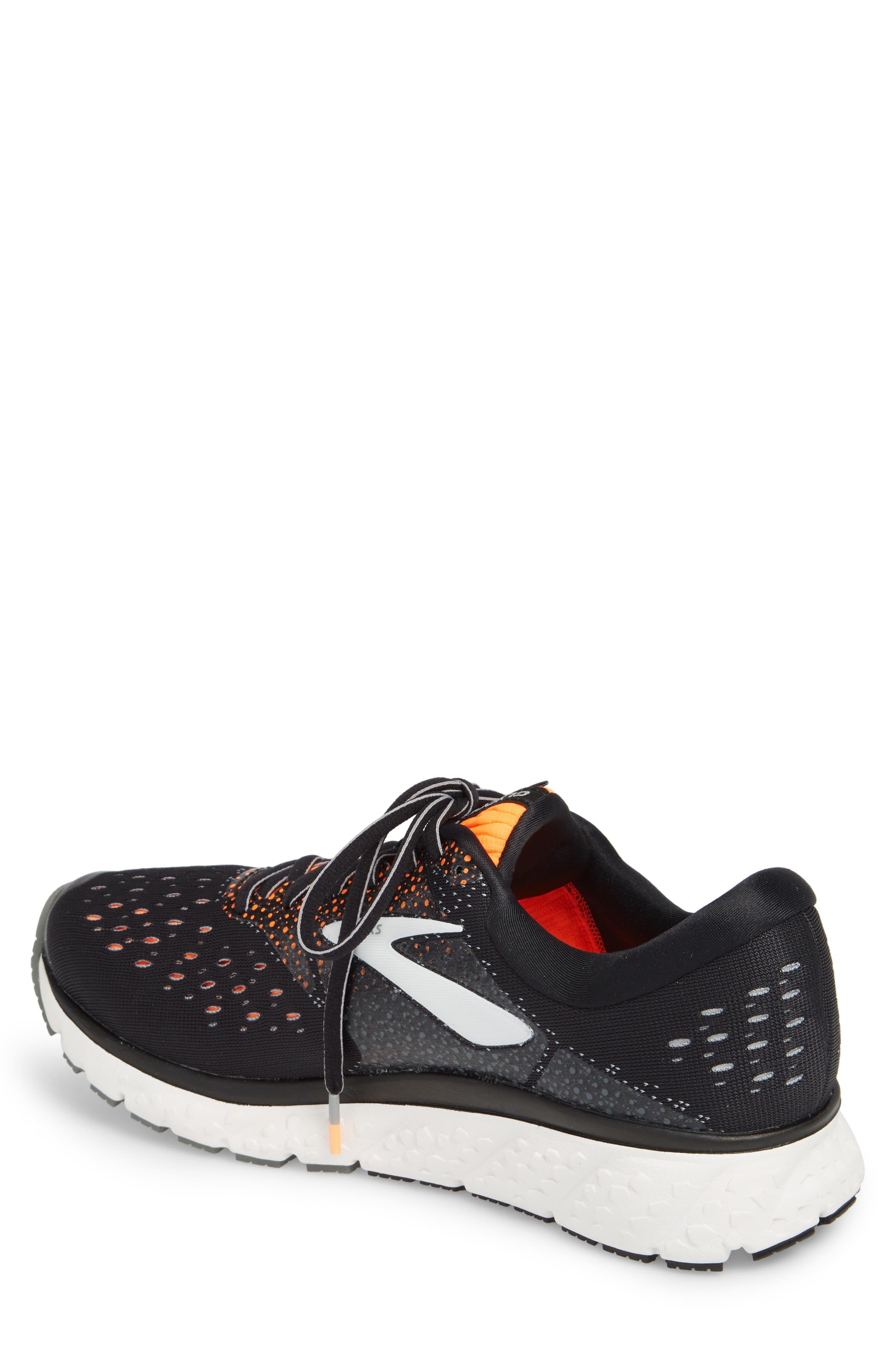 Glycerin 16 Running Shoe,                             Alternate thumbnail 2, color,                             BLACK/ ORANGE/ GREY