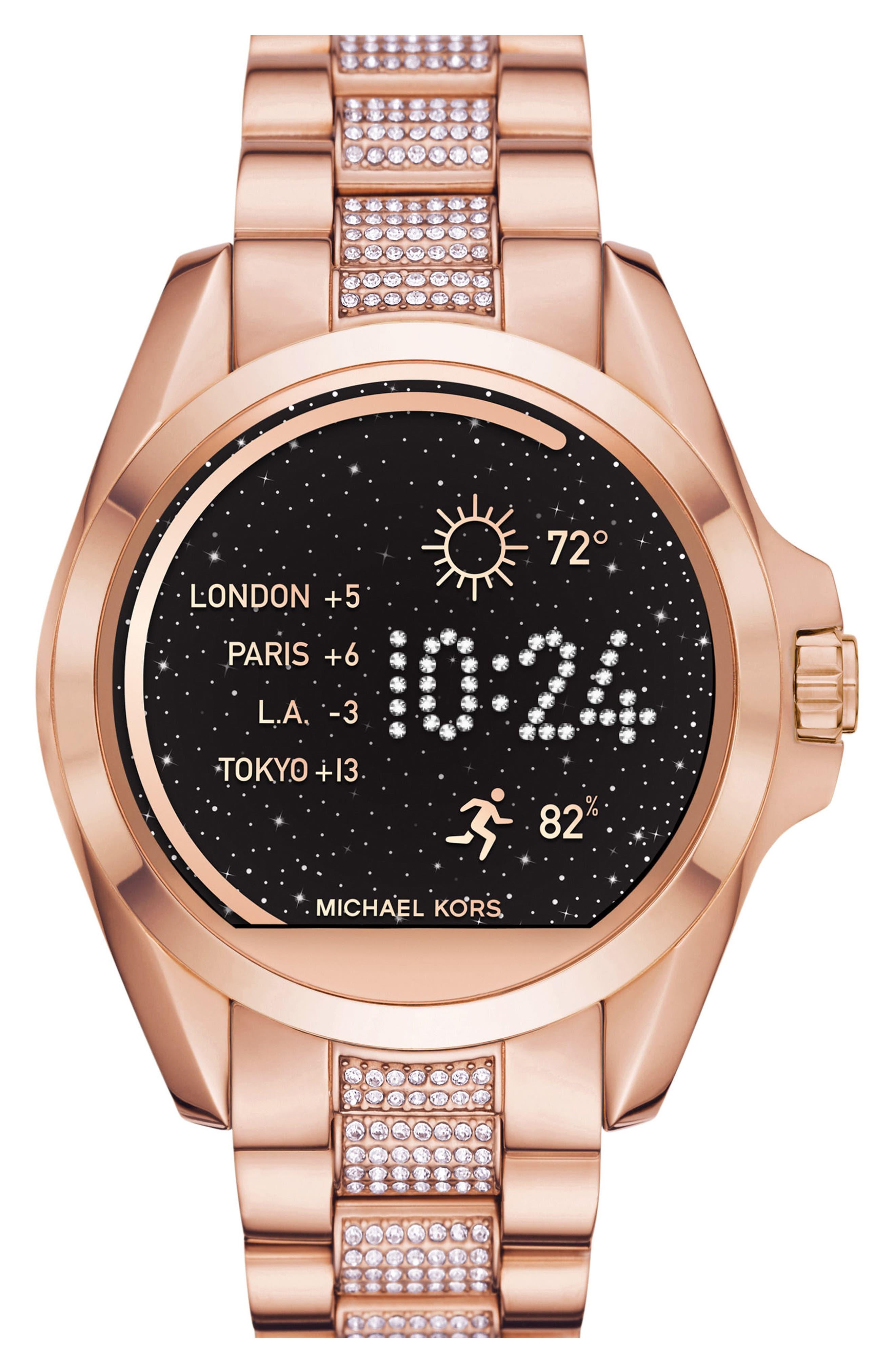 MICHAEL Michael Kors Bradshaw Access Bracelet Smart Watch, 45mm,                             Main thumbnail 2, color,