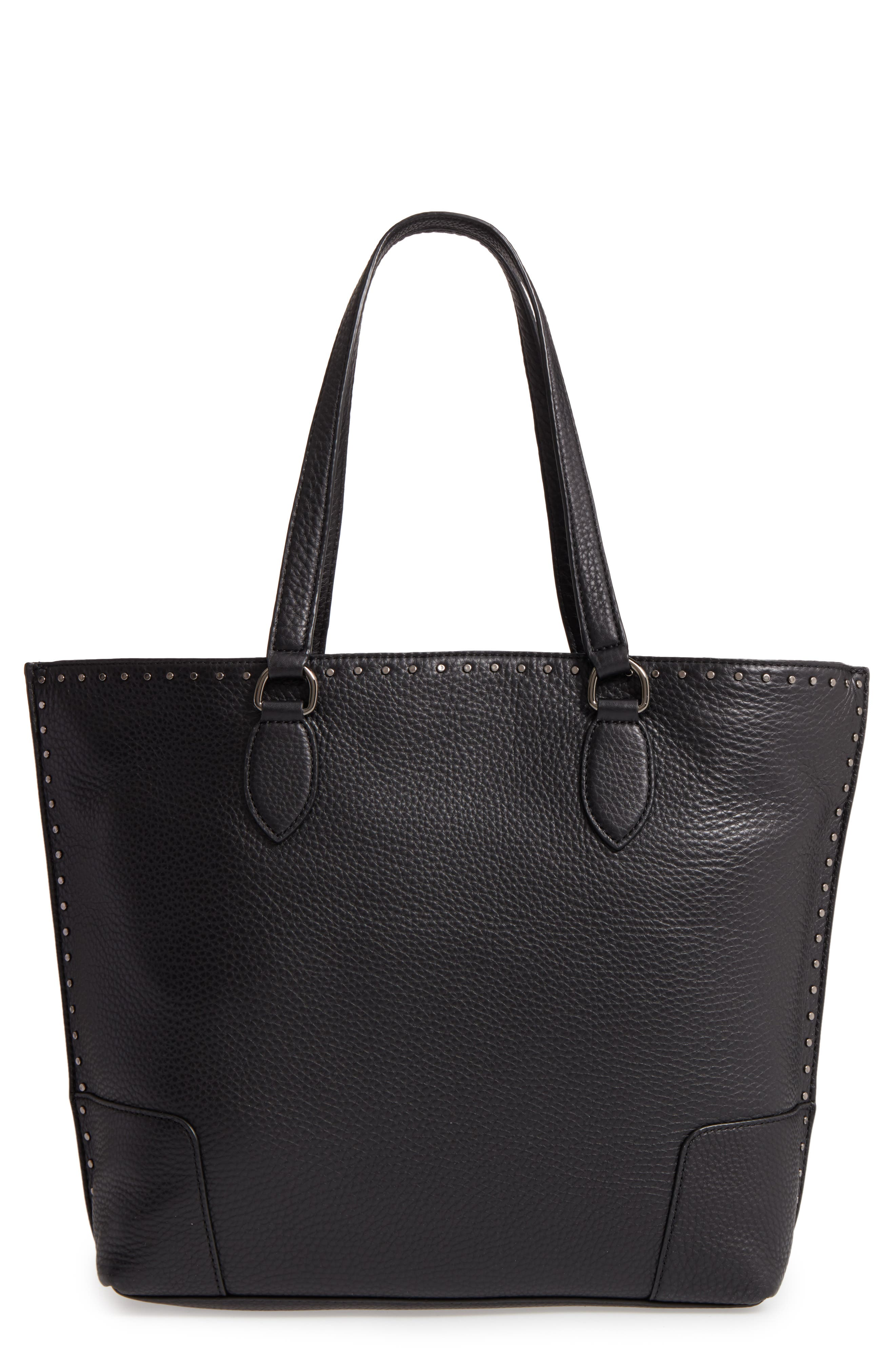 Moonwalking Leather Tote,                             Main thumbnail 1, color,                             001
