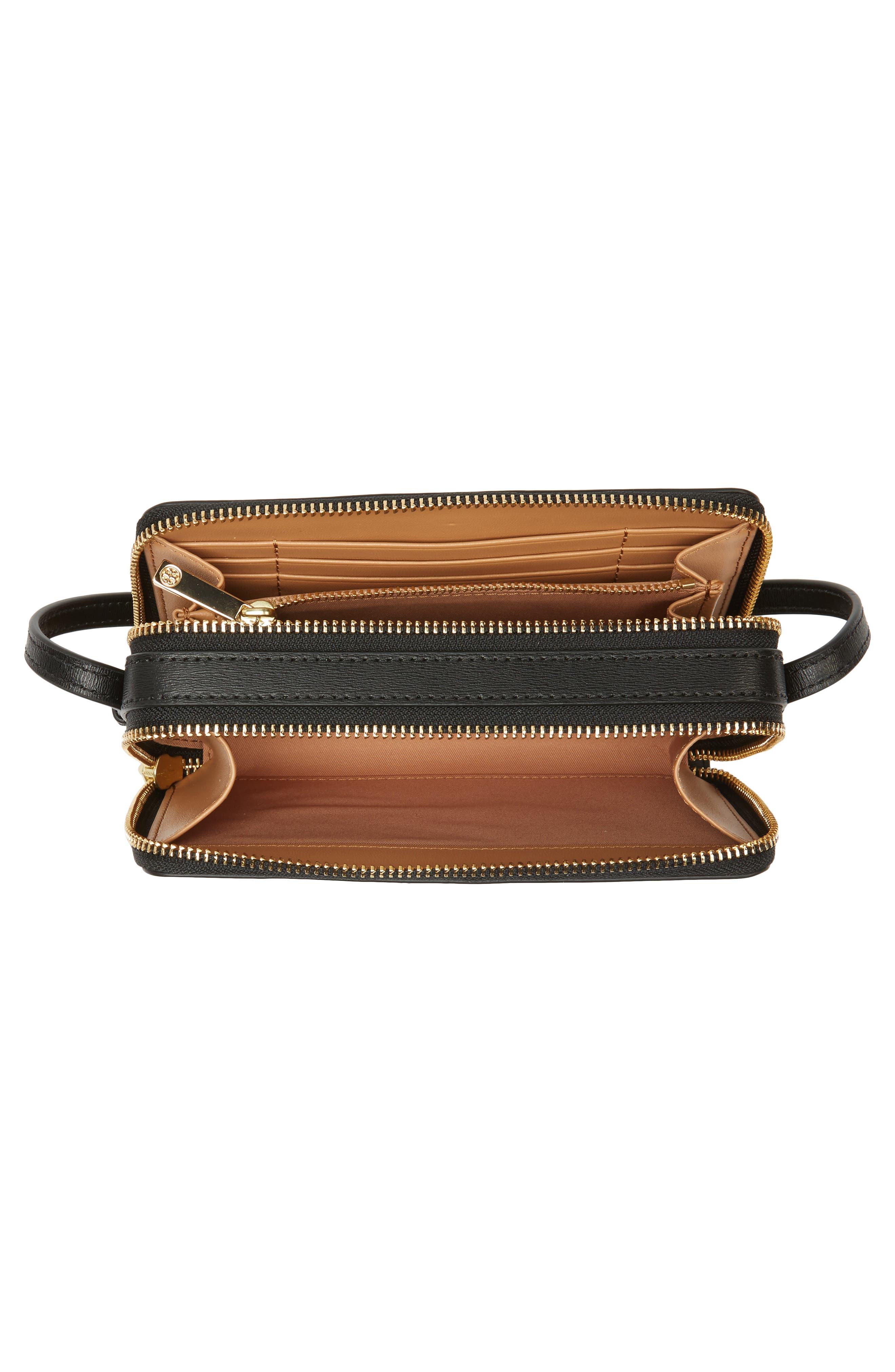 Mini Parker Leather Crossbody Bag,                             Alternate thumbnail 4, color,                             001