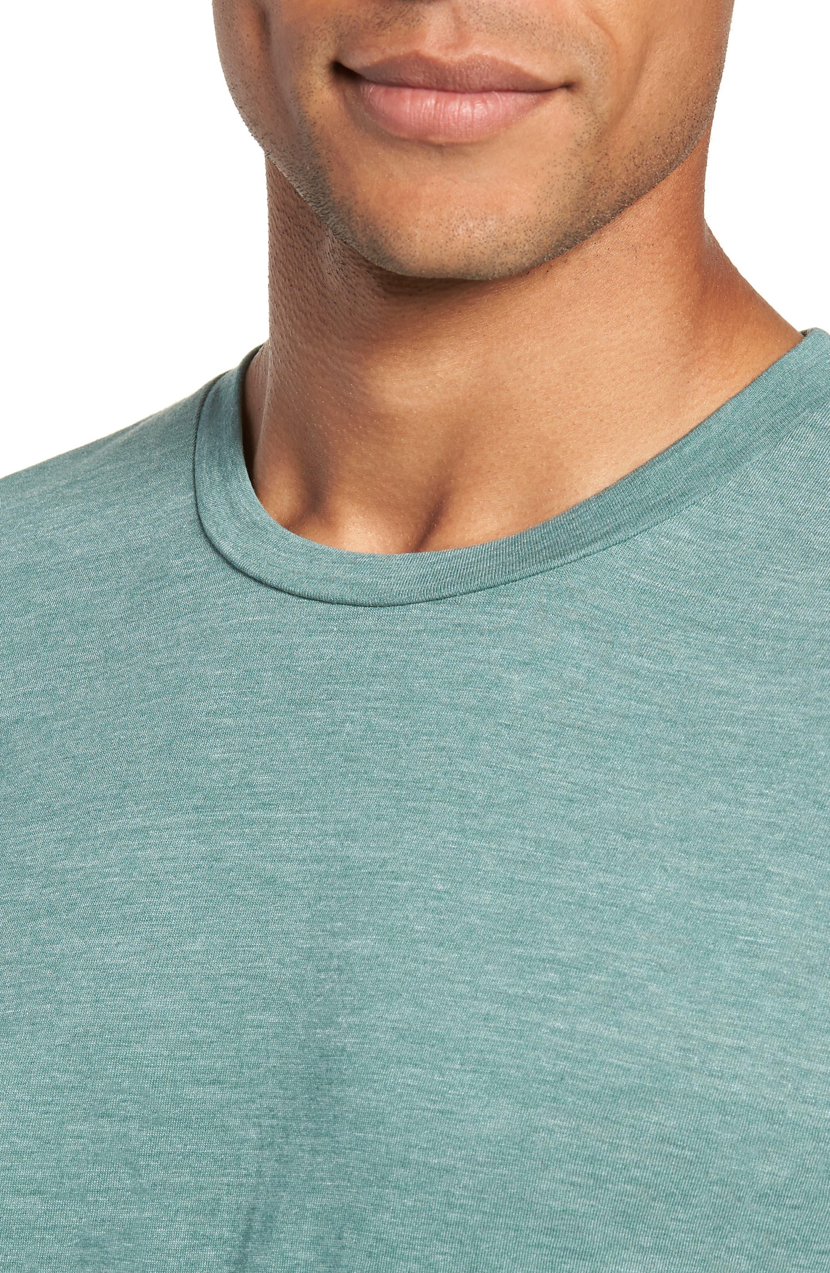 Scallop Triblend Crewneck T-Shirt,                             Alternate thumbnail 4, color,                             PINE