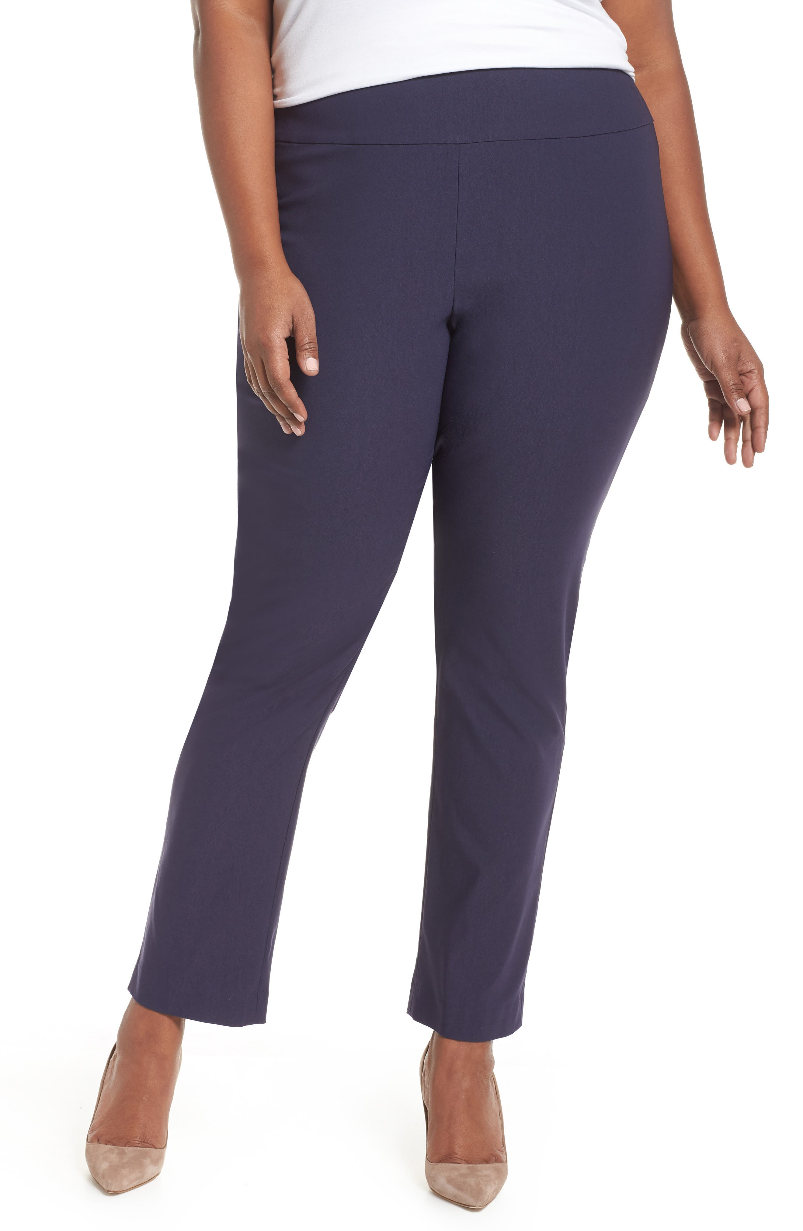 NIC+ZOE Wonderstretch High Rise Pants, Main, color, BLUEPRINT