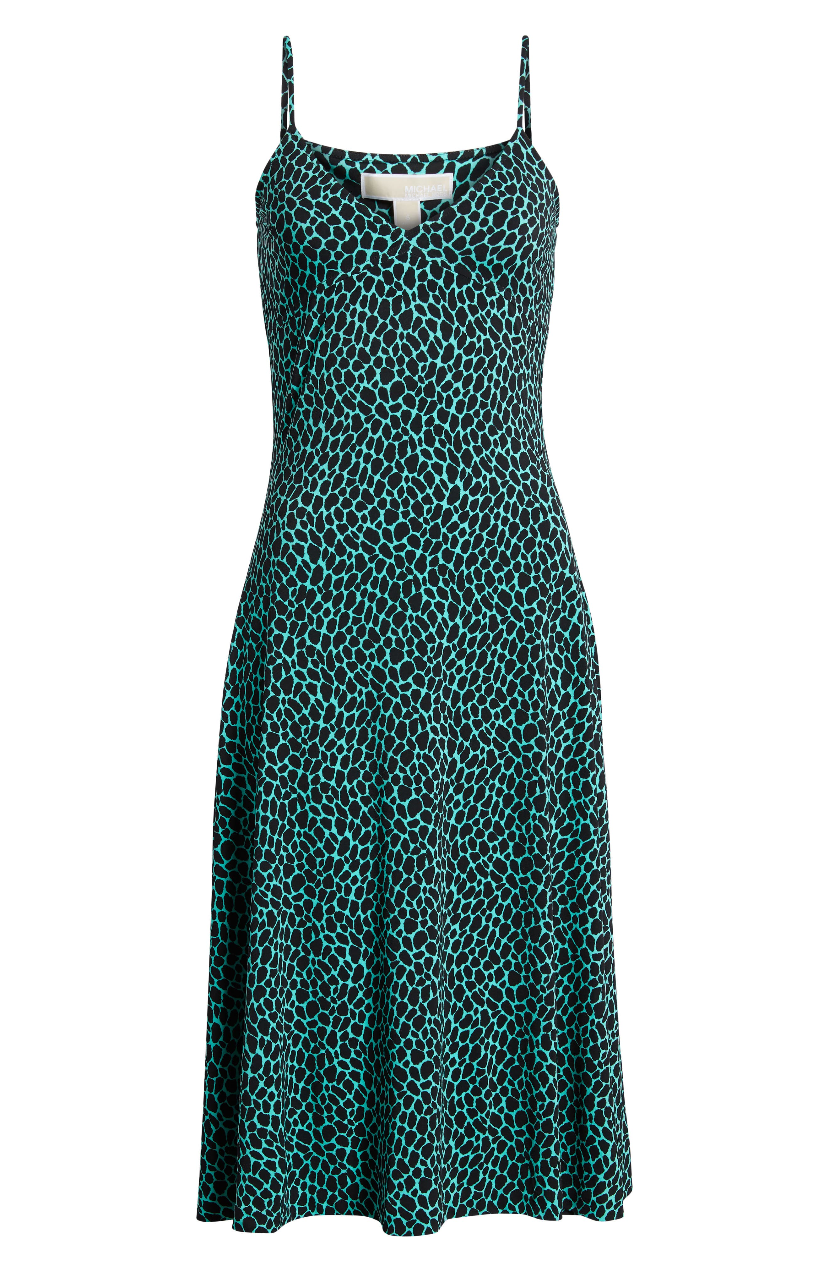 Graphic Leopard Tank Midi Dress,                             Alternate thumbnail 7, color,