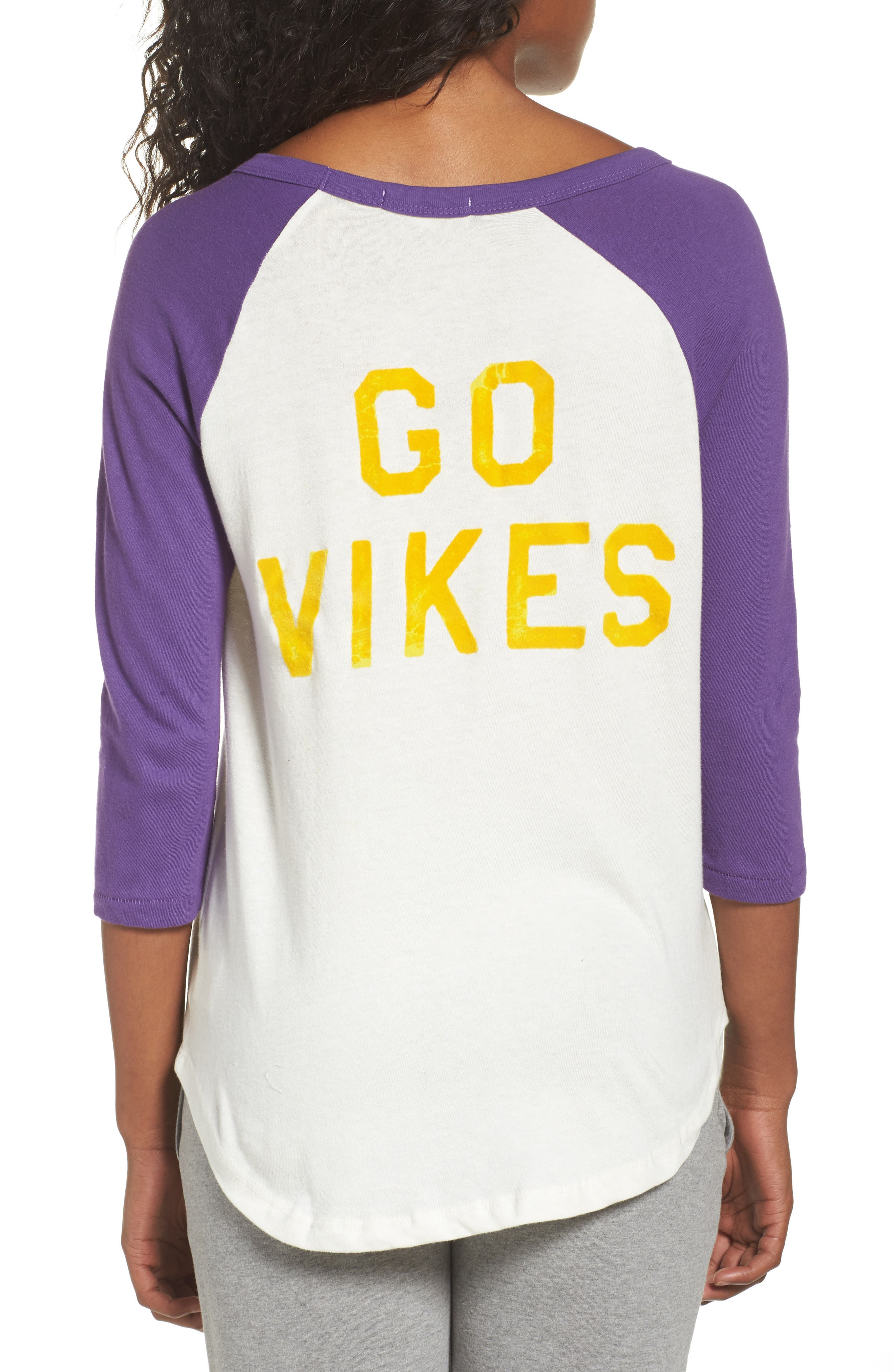 NFL Minnesota Vikings Raglan Tee,                             Alternate thumbnail 2, color,                             189