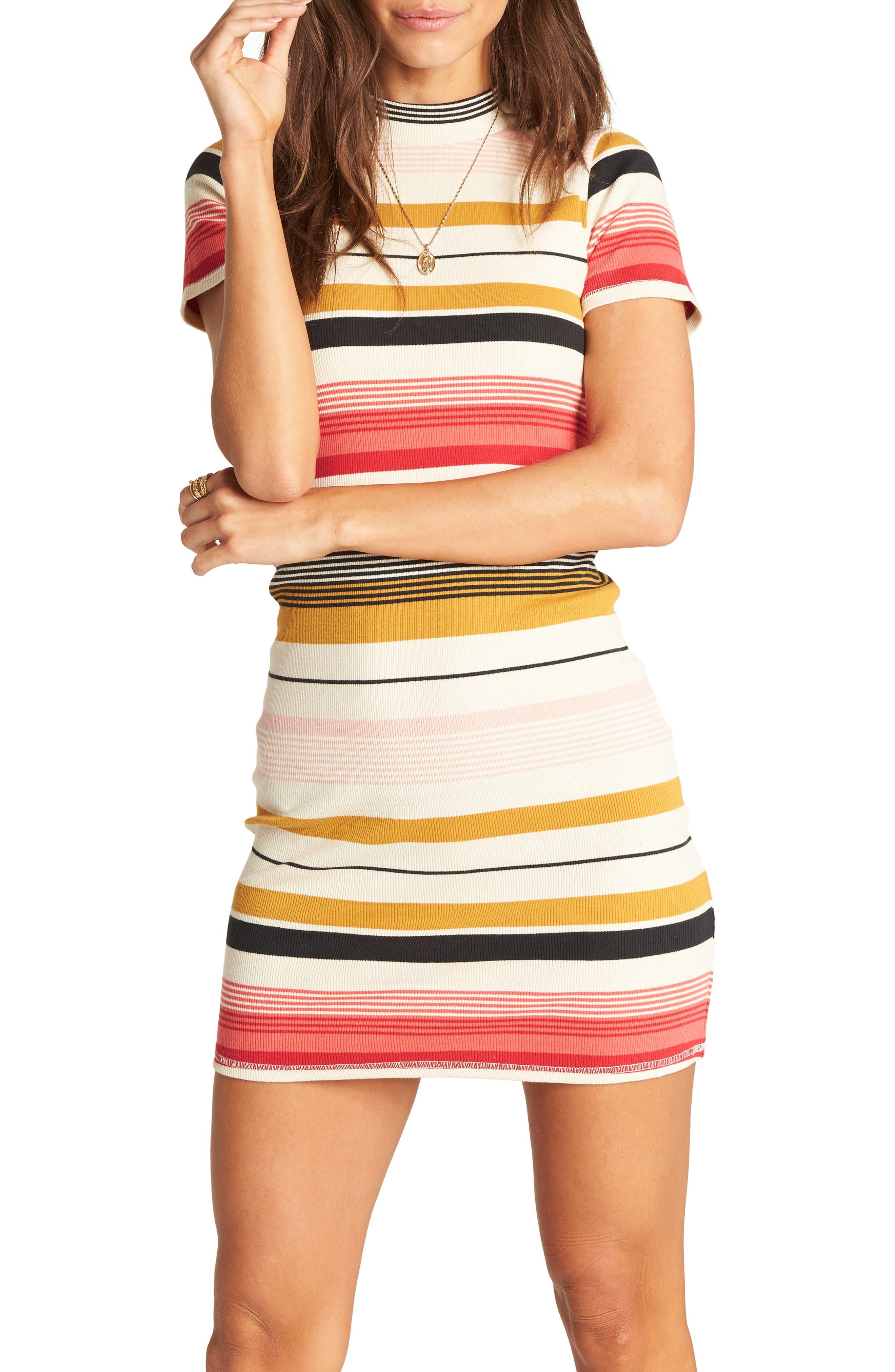 Billabong Stay Golden Body-Con Dress, Ivory