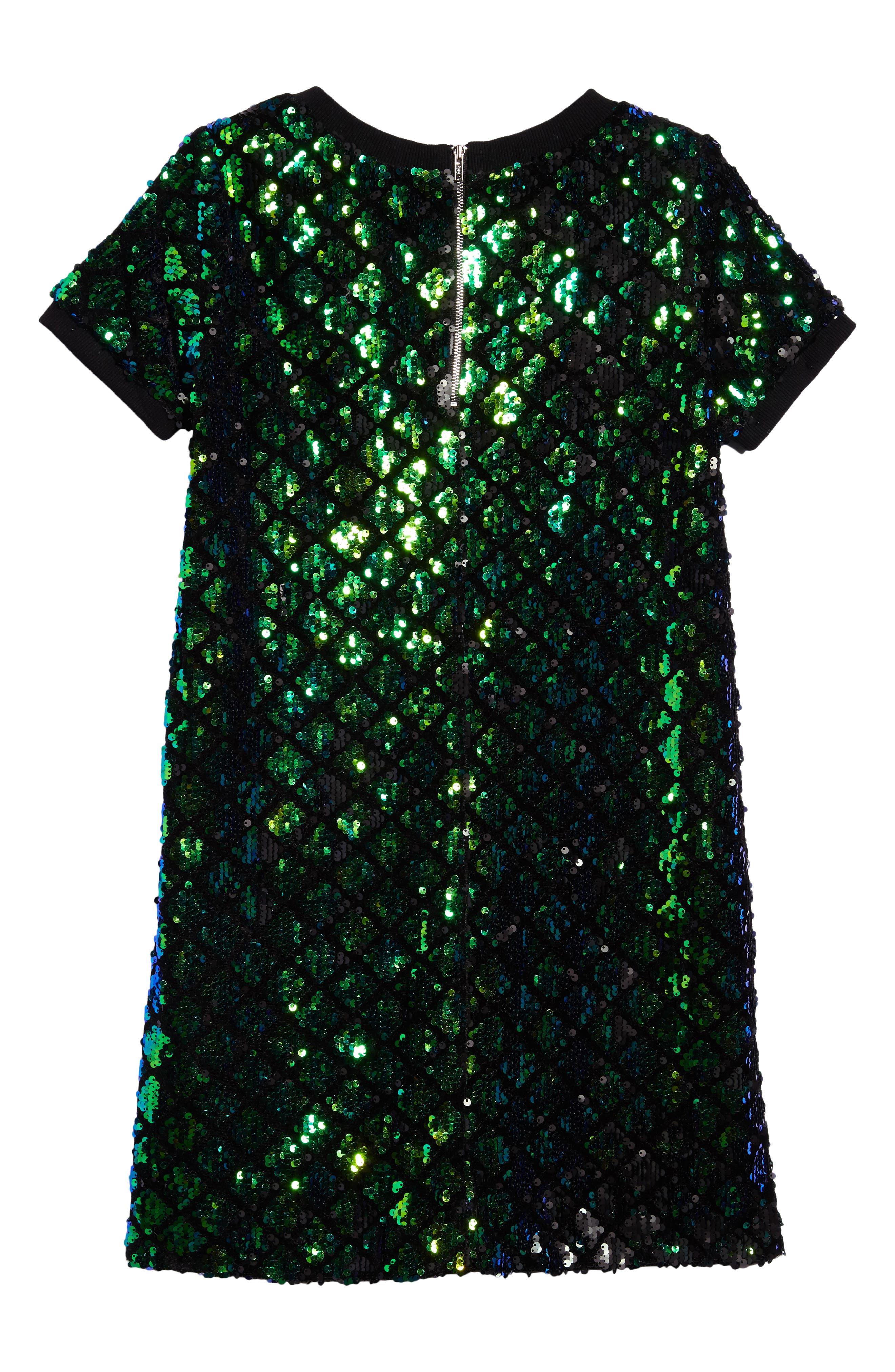 Mermaid Sequin Shift Dress,                             Alternate thumbnail 2, color,                             440