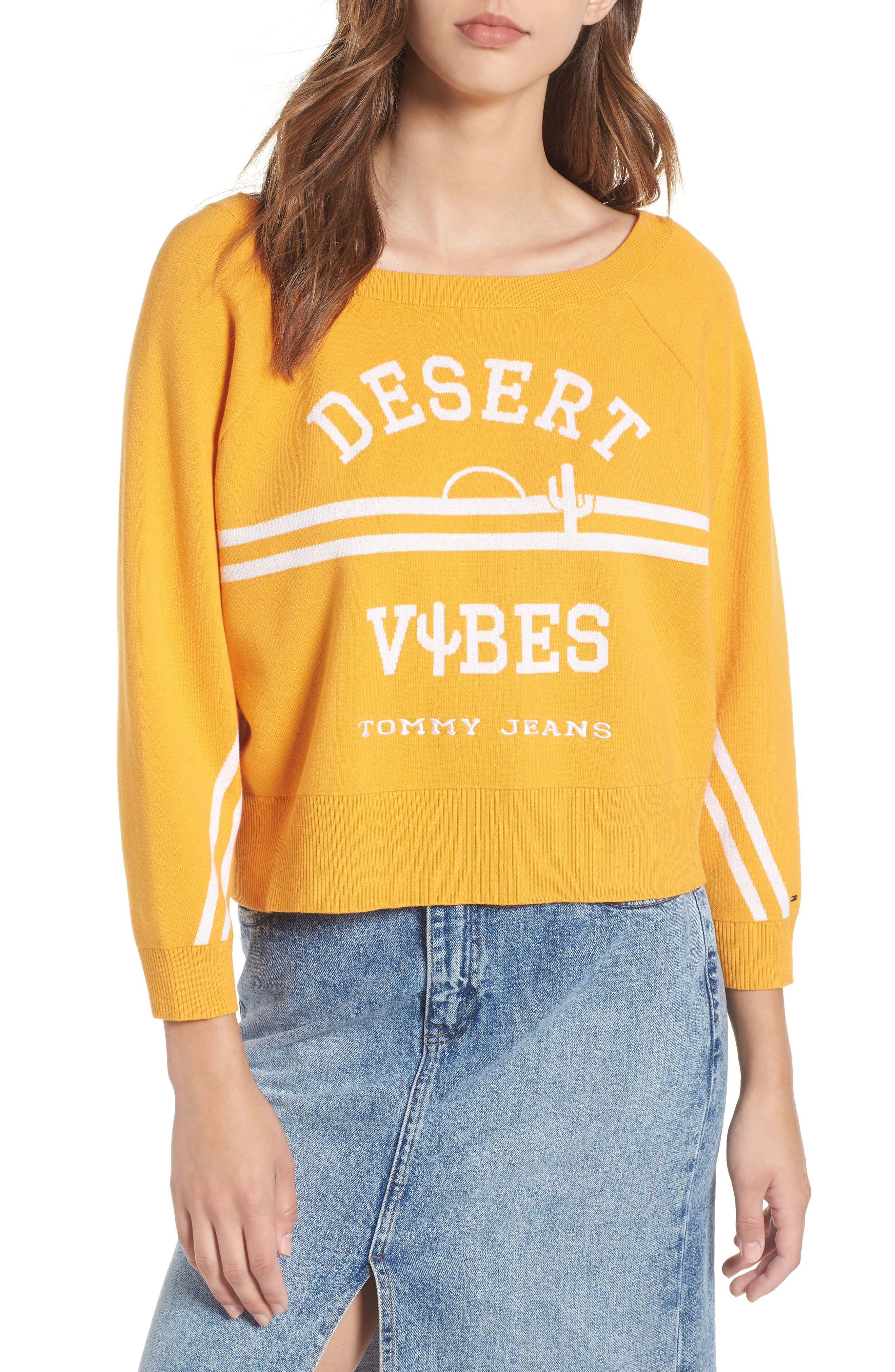 TJW Desert Vibes Tie Back Sweater,                         Main,                         color, 801