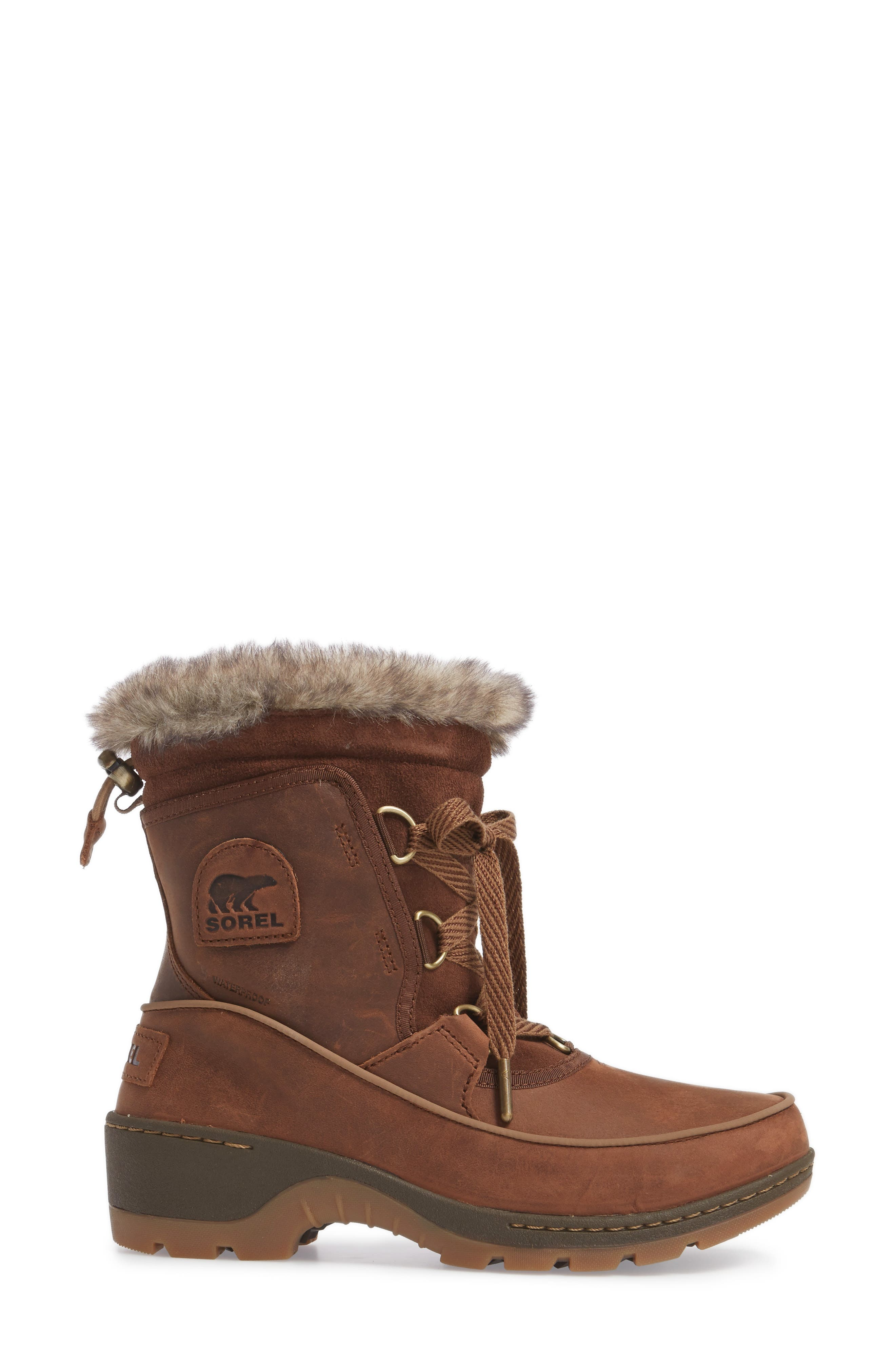 Tivoli II Insulated Winter Boot with Faux Fur Trim,                             Alternate thumbnail 6, color,
