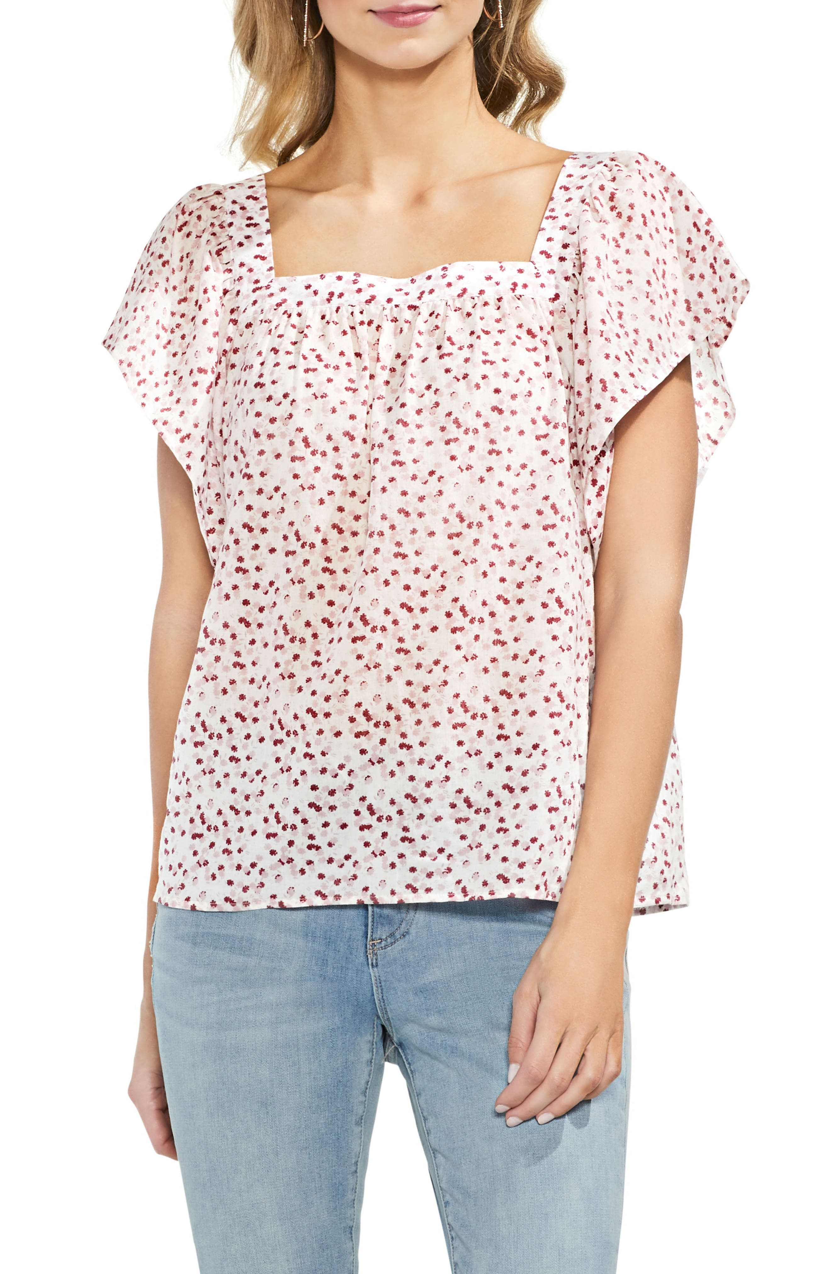 Floral Print Blouse,                             Main thumbnail 1, color,                             103
