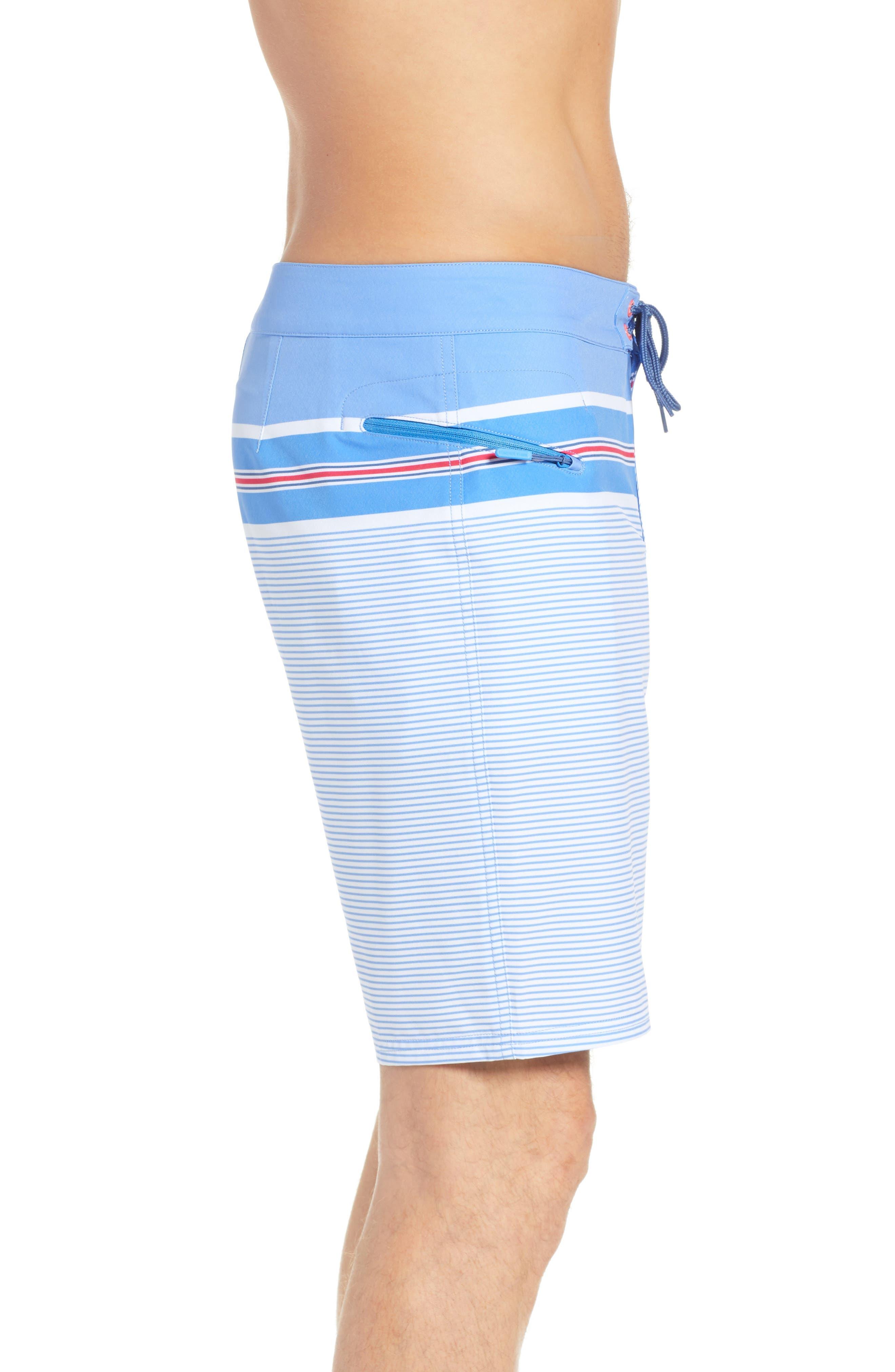 VINEYARD VINES,                             Birchcliff Stripe Board Shorts,                             Alternate thumbnail 3, color,                             484