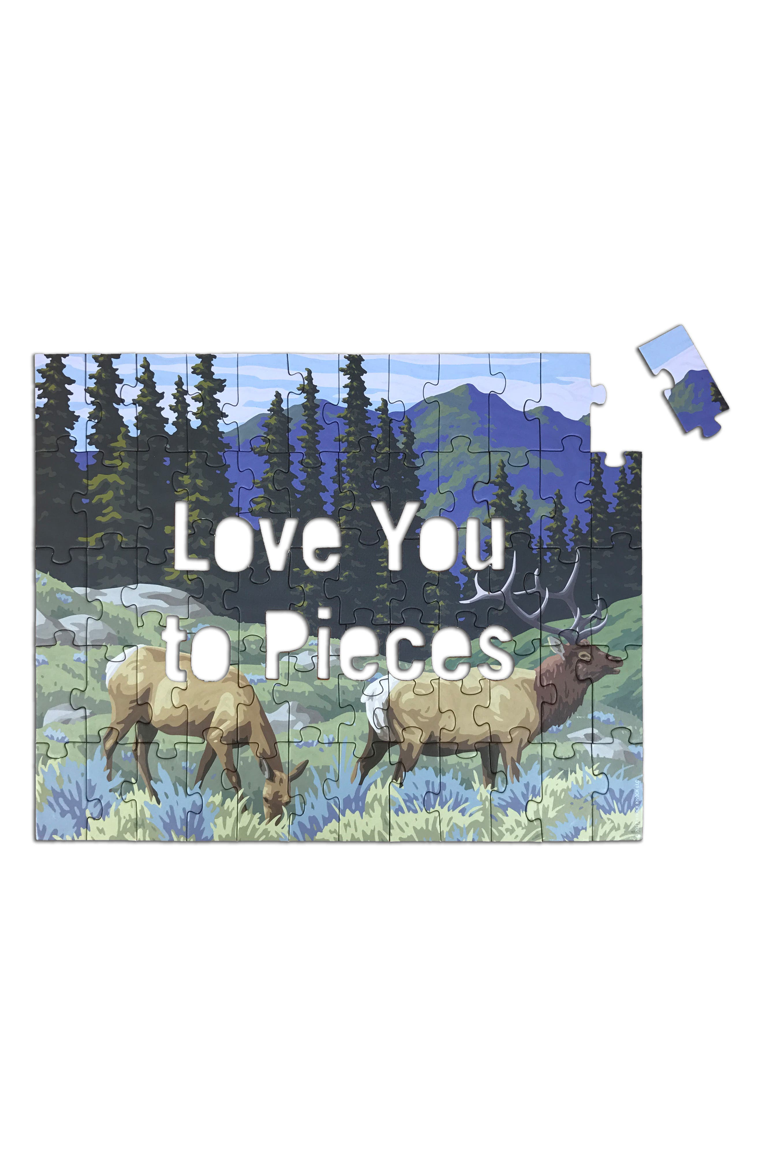 Love You to Pieces Puzzle,                             Alternate thumbnail 5, color,                             600