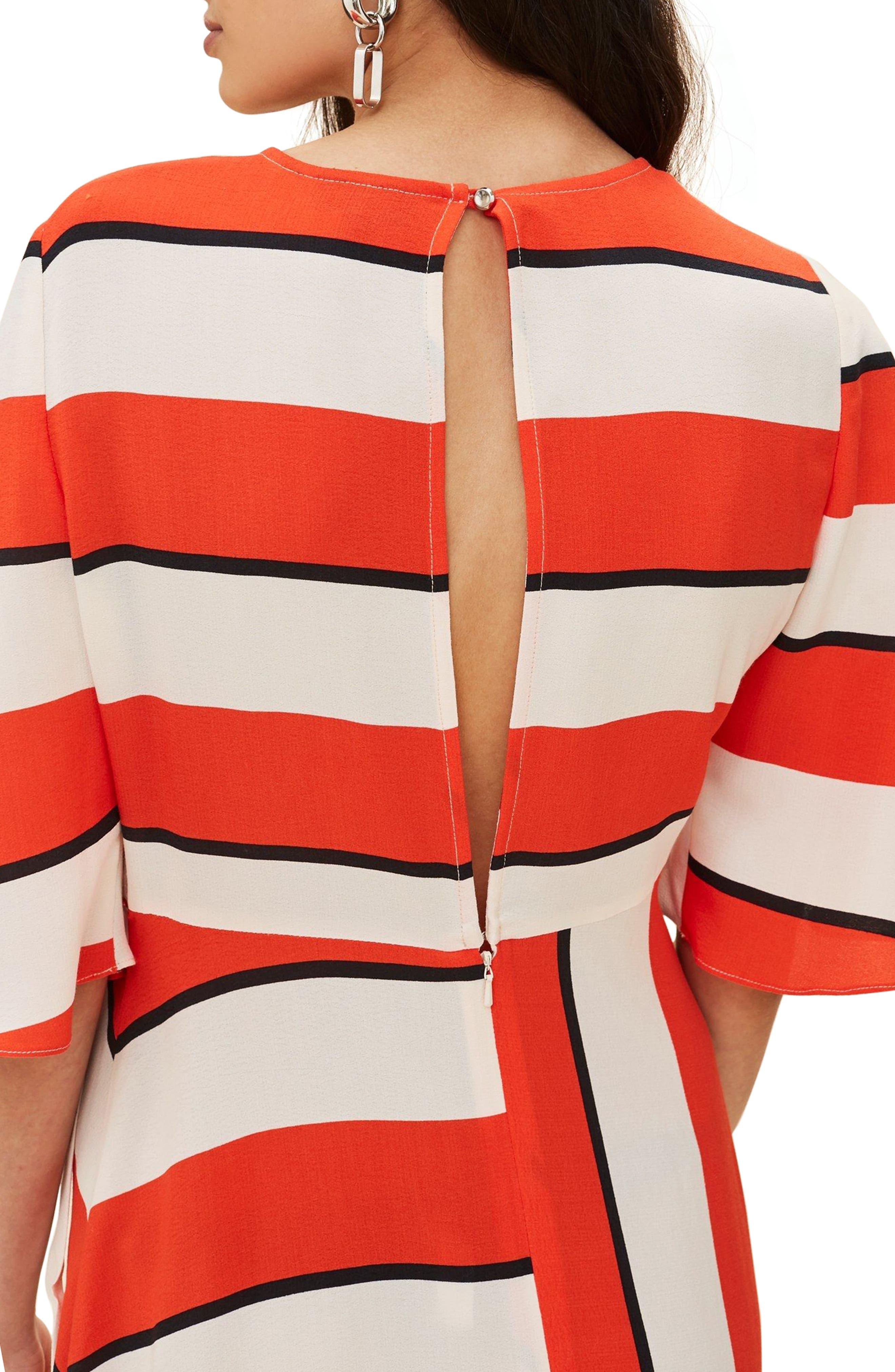 Diagonal Stripe Midi Dress,                             Main thumbnail 1, color,
