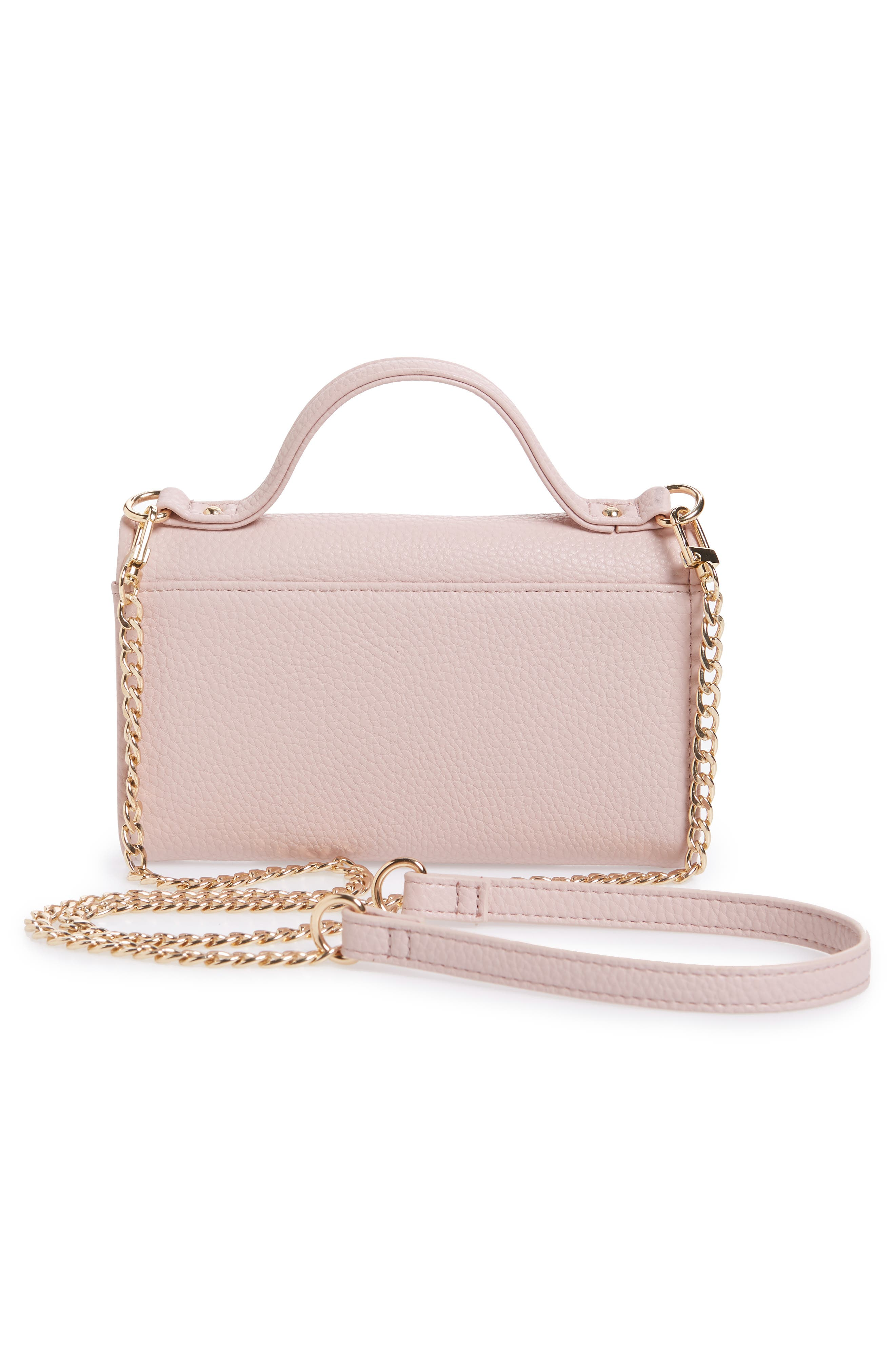 Dharma Faux Leather Wallet on a Chain,                             Alternate thumbnail 6, color,