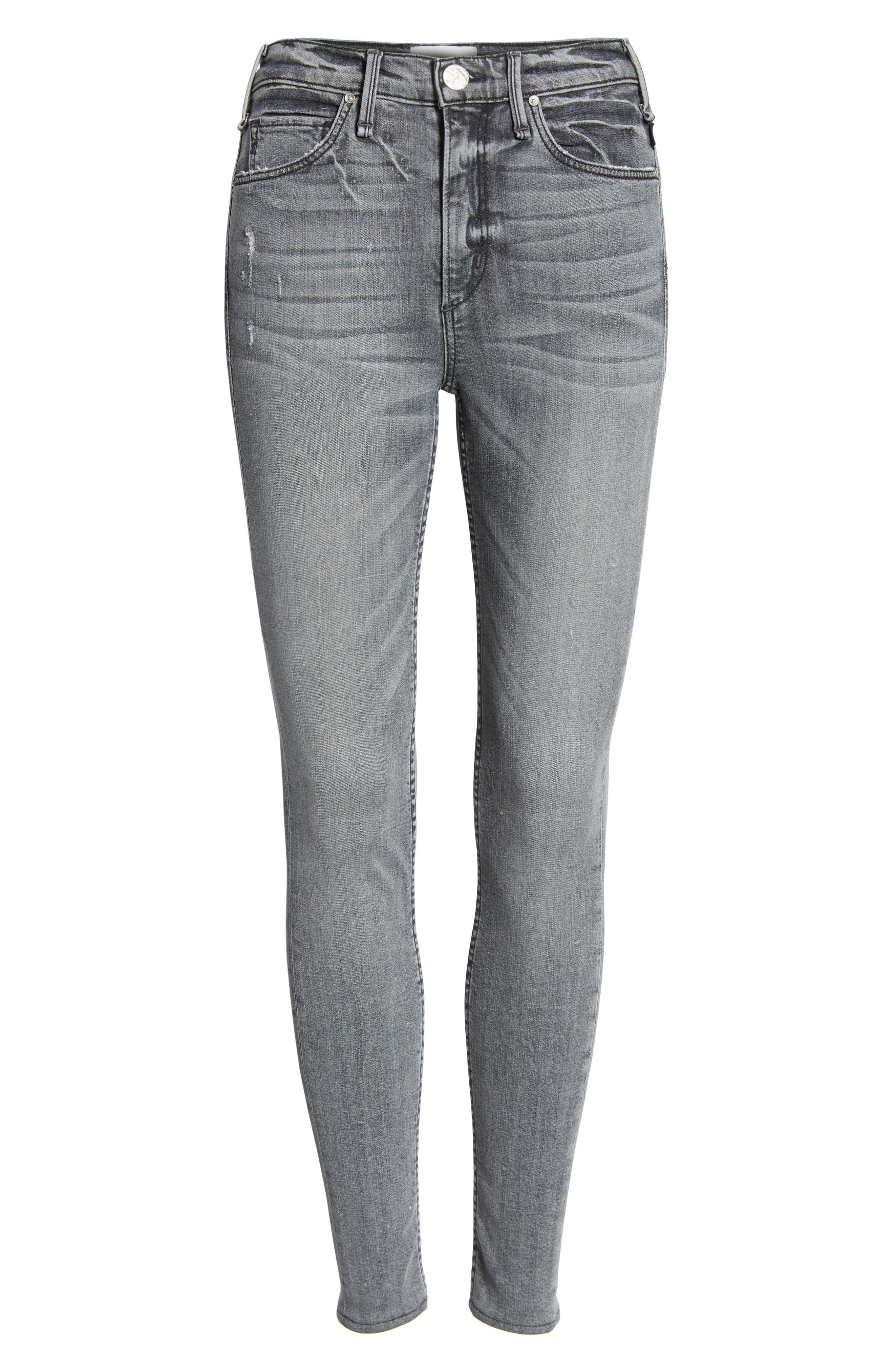 Newton High Waist Skinny Jeans,                             Alternate thumbnail 7, color,                             021