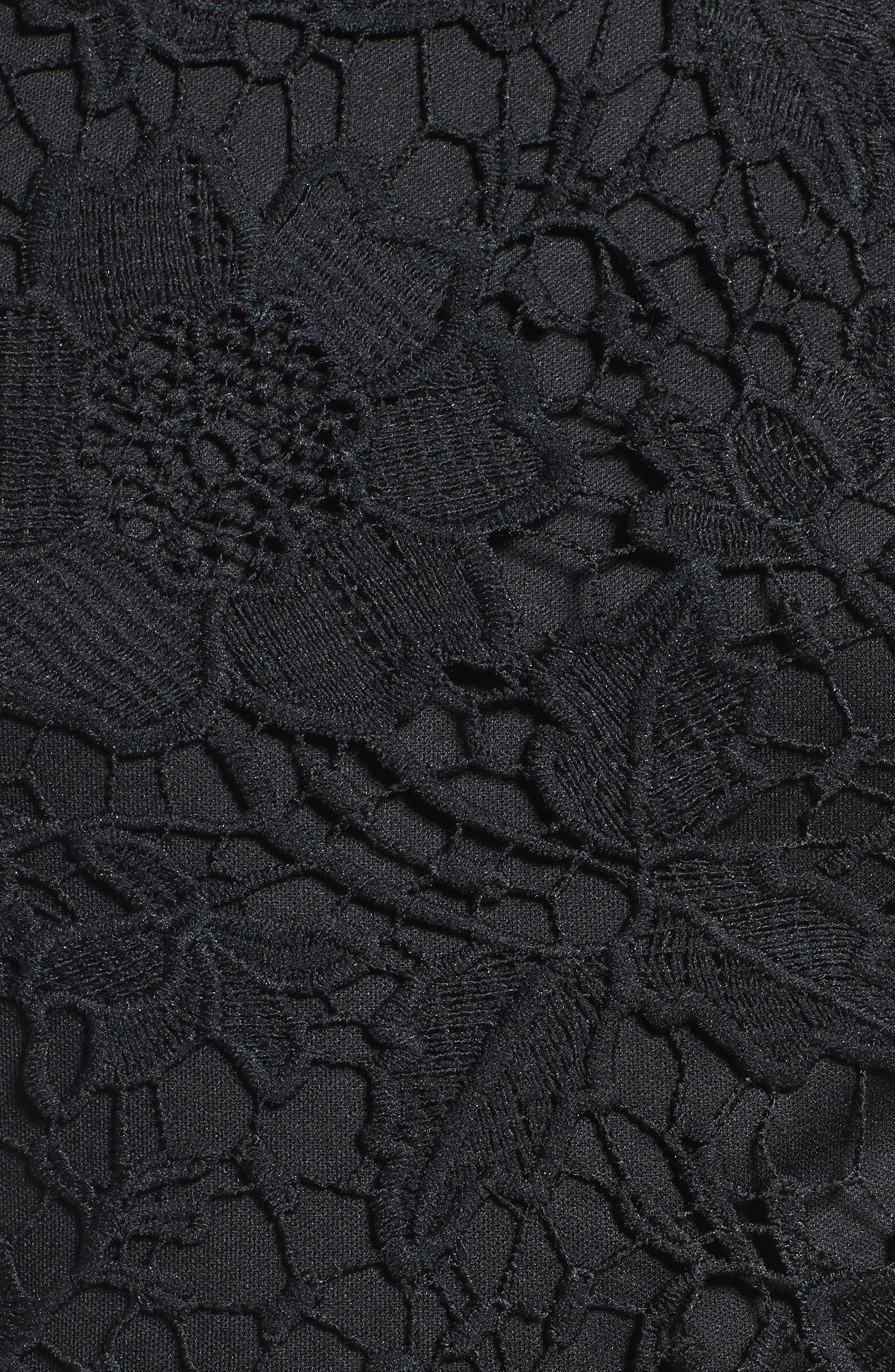 'Samantha' Lace Dress,                             Alternate thumbnail 5, color,                             001