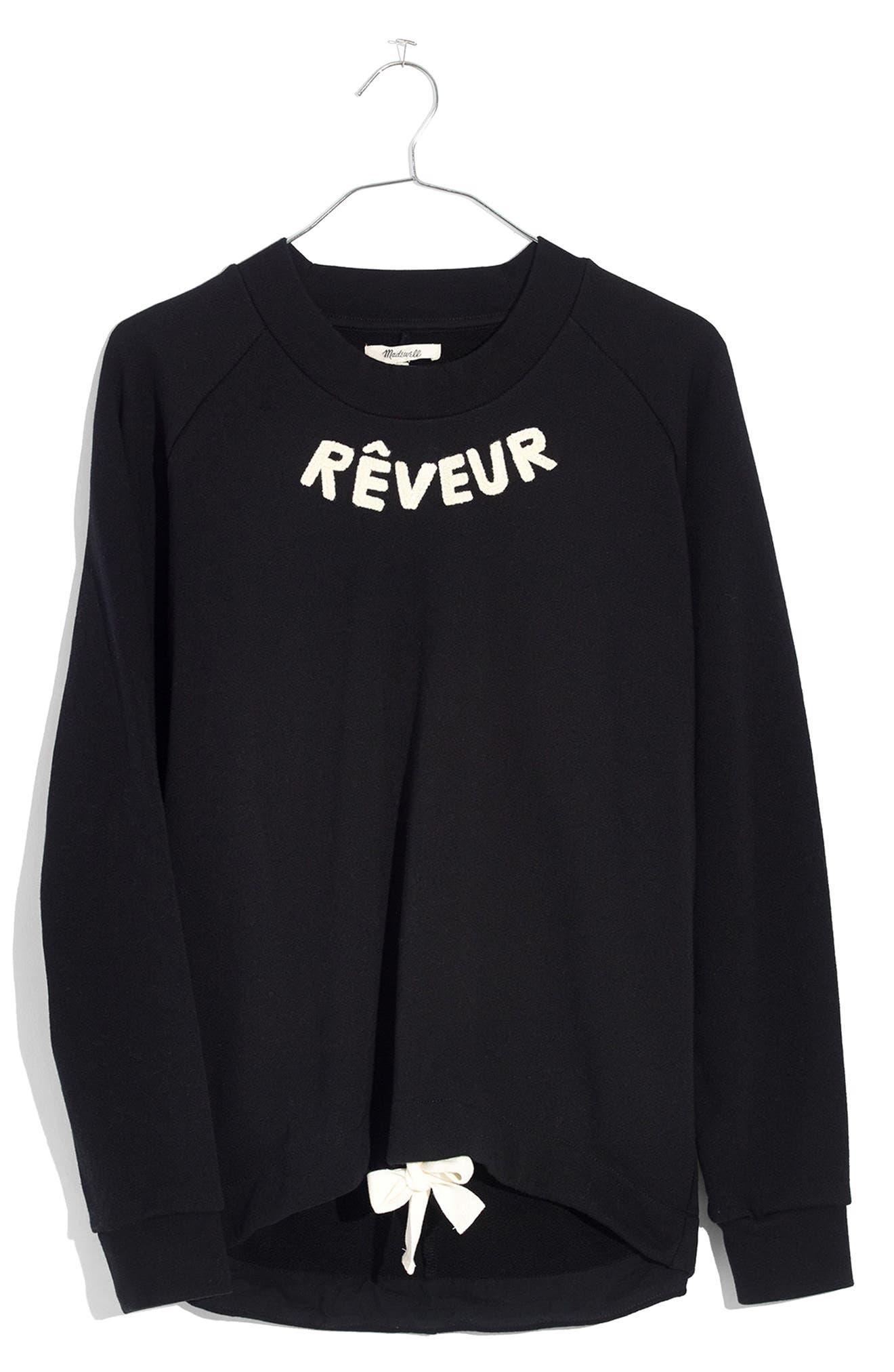 Rêveur Drawstring Sweatshirt,                             Alternate thumbnail 3, color,