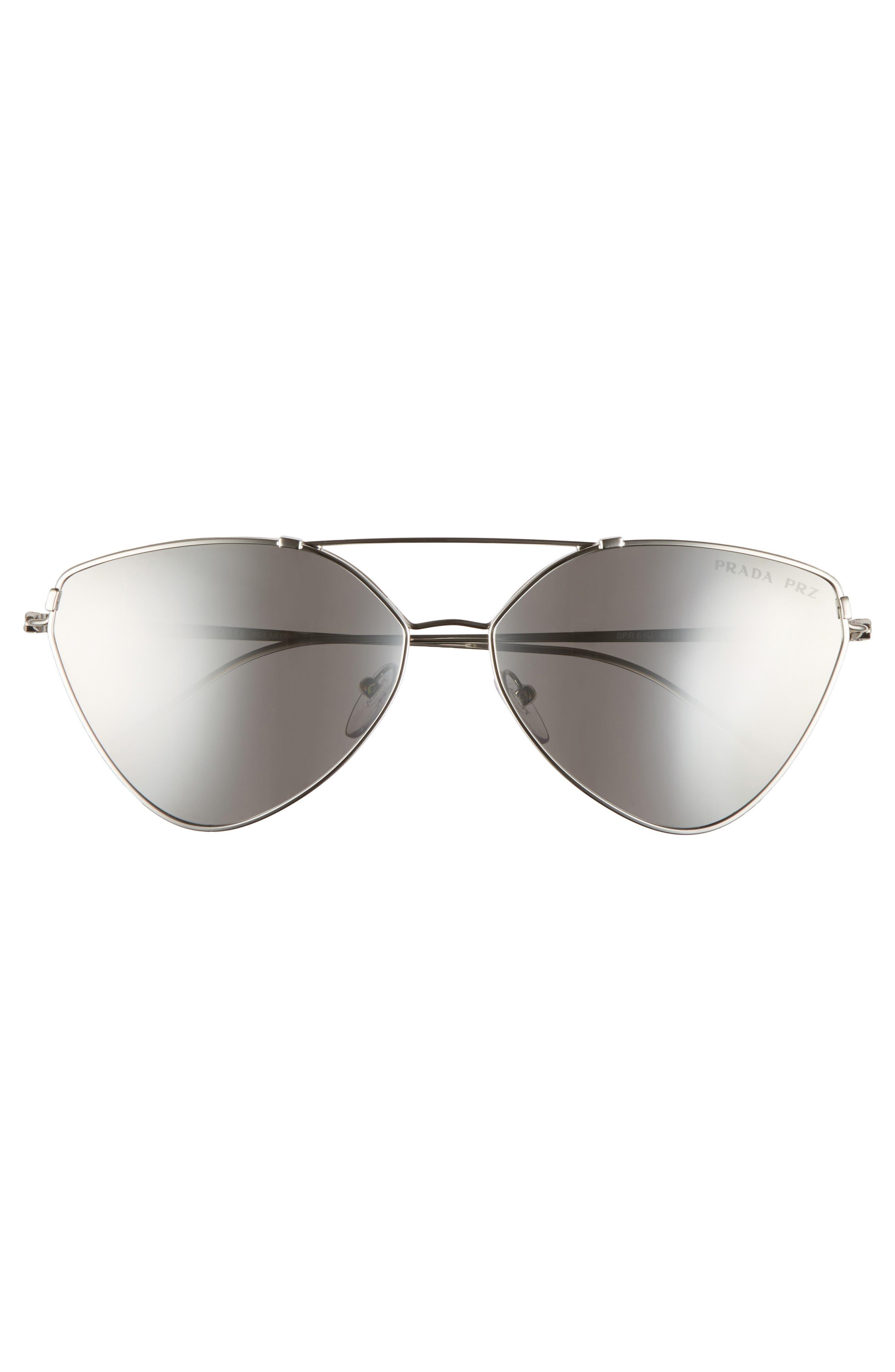 62mm Polarized Oversize Aviator Sunglasses,                             Alternate thumbnail 4, color,                             042
