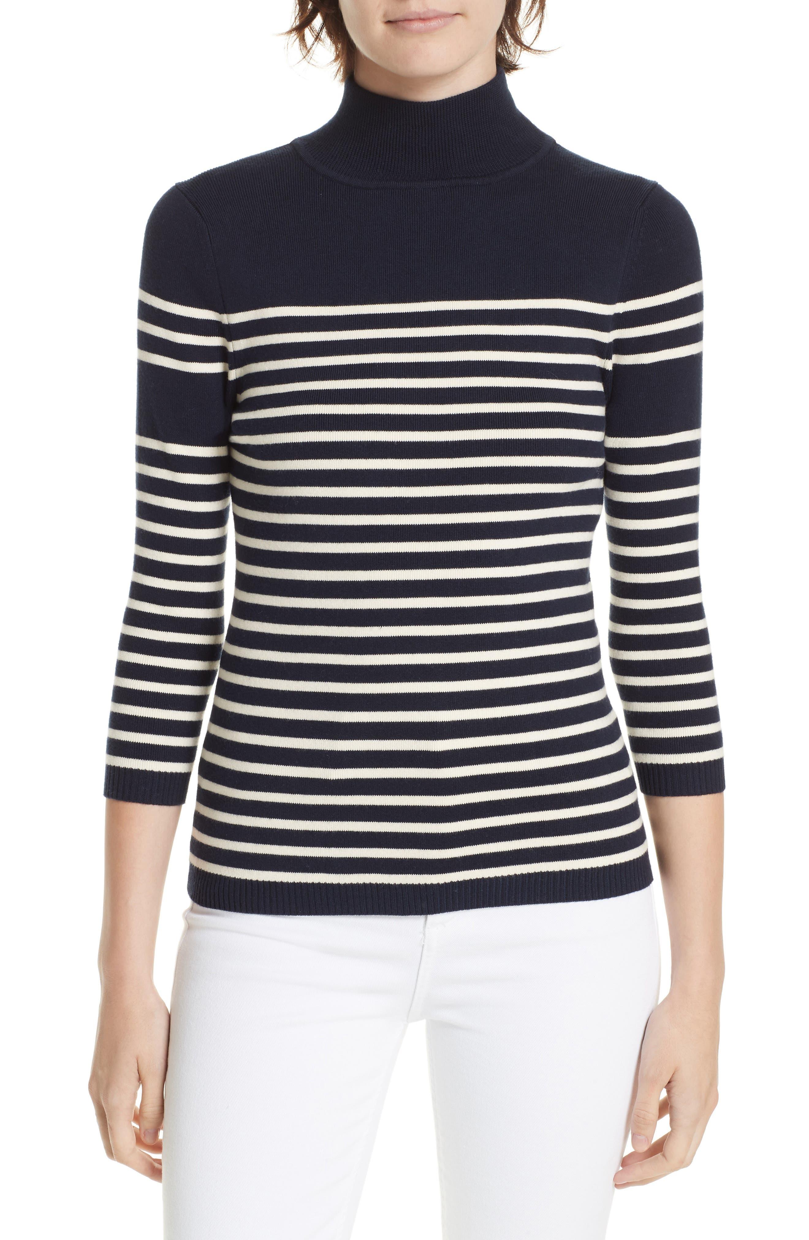 Classique Stripe Sweater,                             Main thumbnail 1, color,                             401
