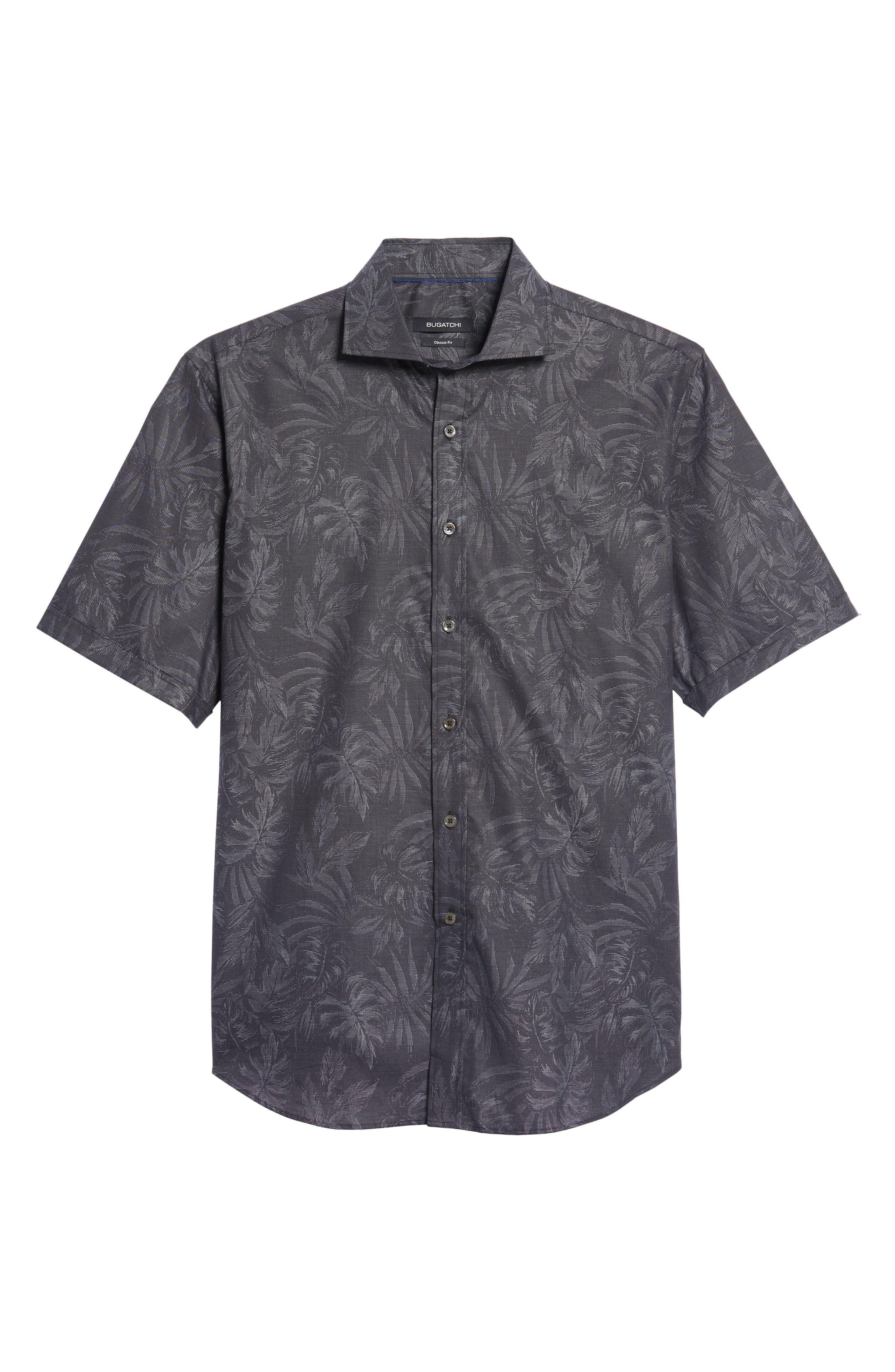 Classic Fit Print Sport Shirt,                             Alternate thumbnail 6, color,
